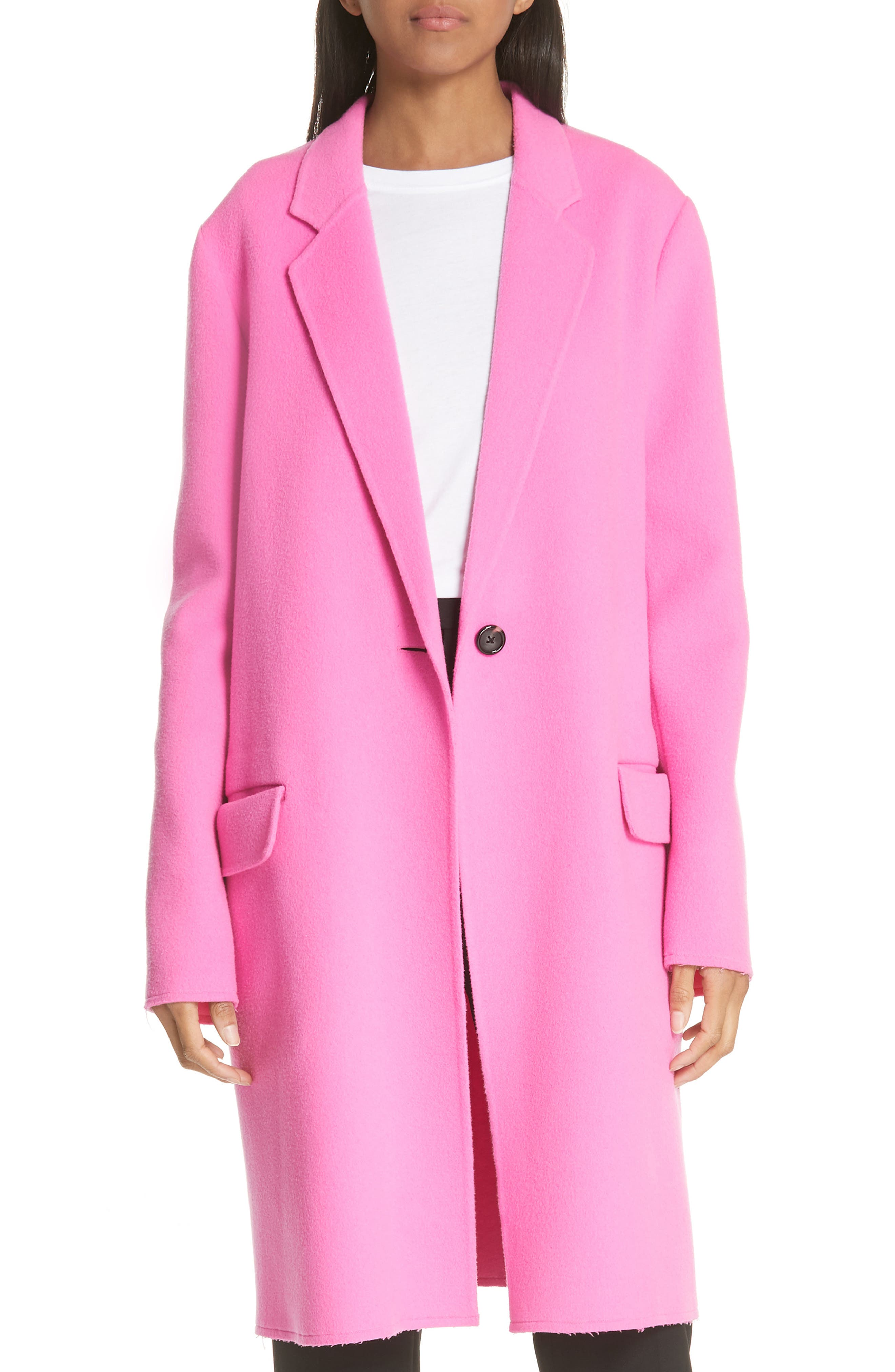 Double Face Wool & Cashmere Coat,                         Main,                         color, 694