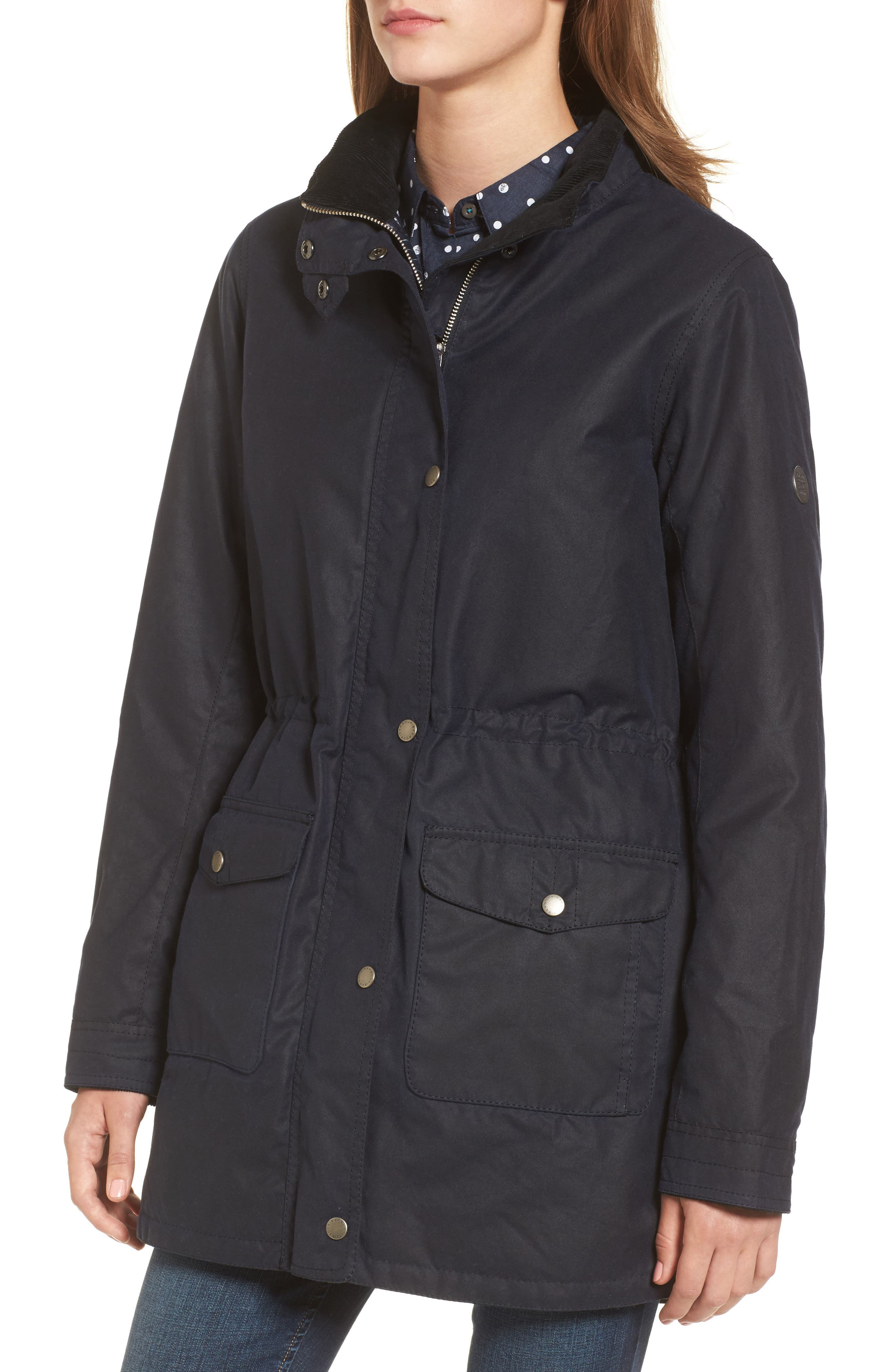 Selsey Waxed Canvas Hooded Jacket,                             Alternate thumbnail 4, color,                             410