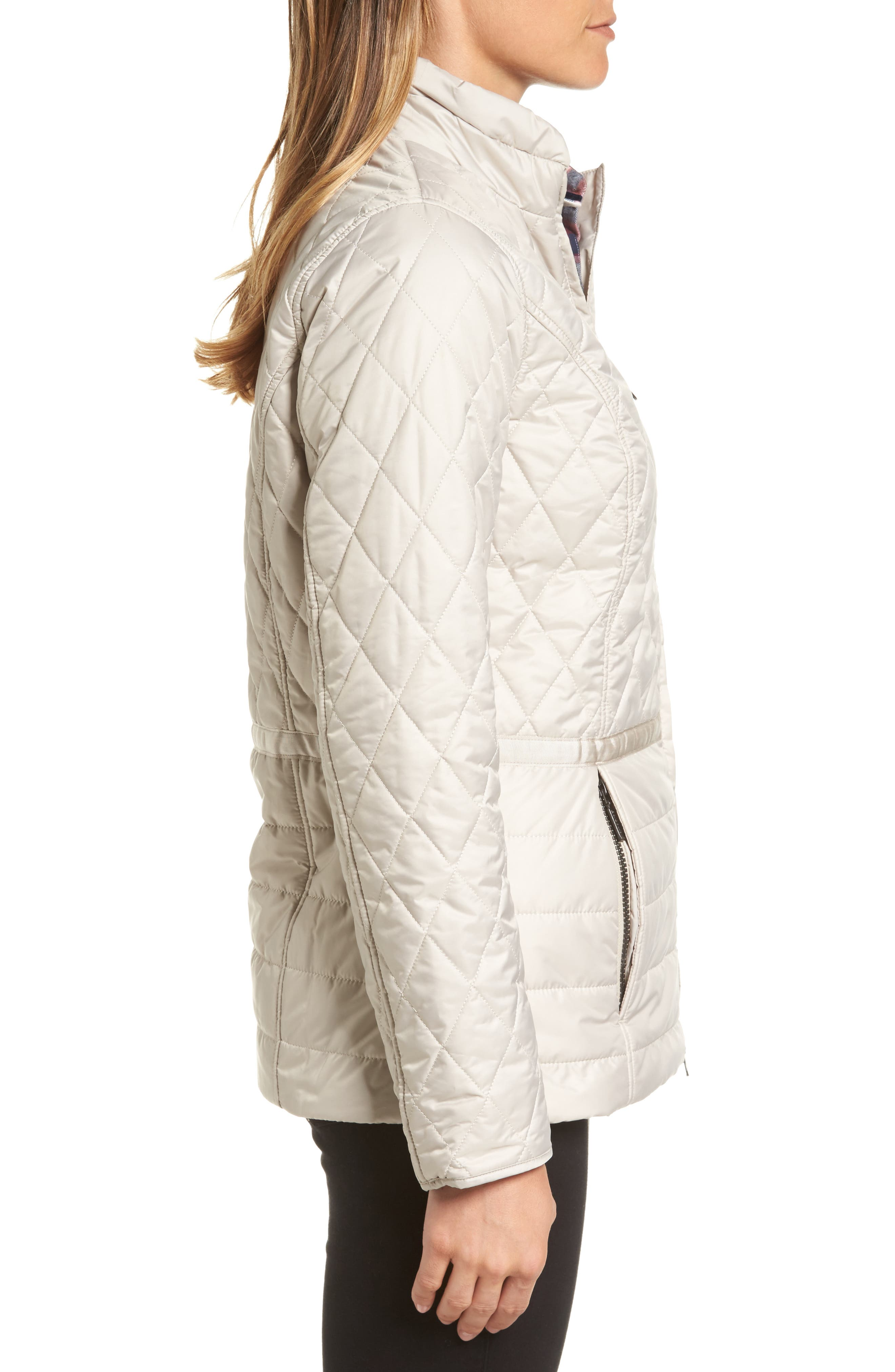 Water Resistant Quilted Jacket,                             Alternate thumbnail 3, color,                             070