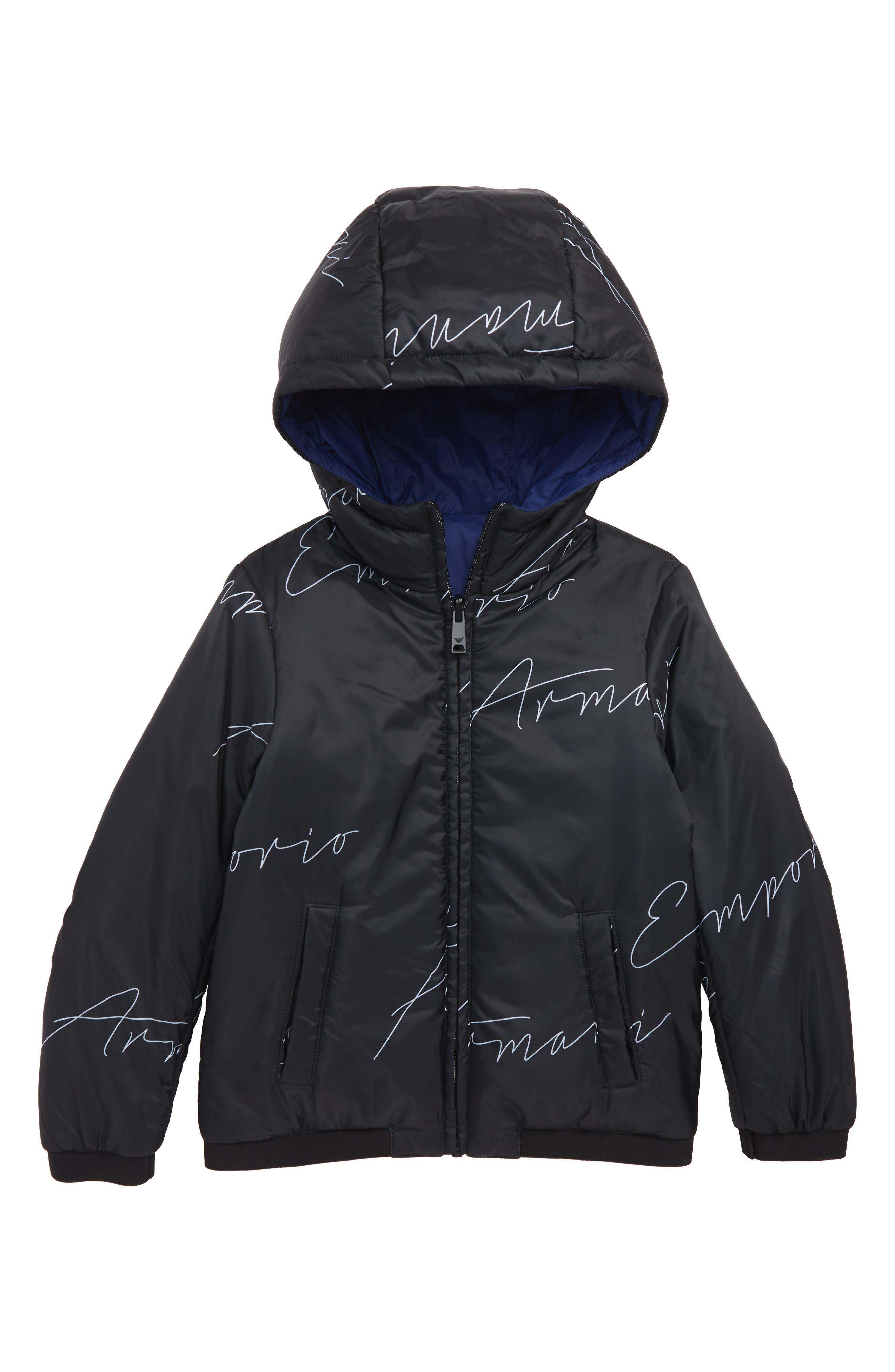 Armani Reversible Nylon Jacket,                             Main thumbnail 1, color,                             MULTI