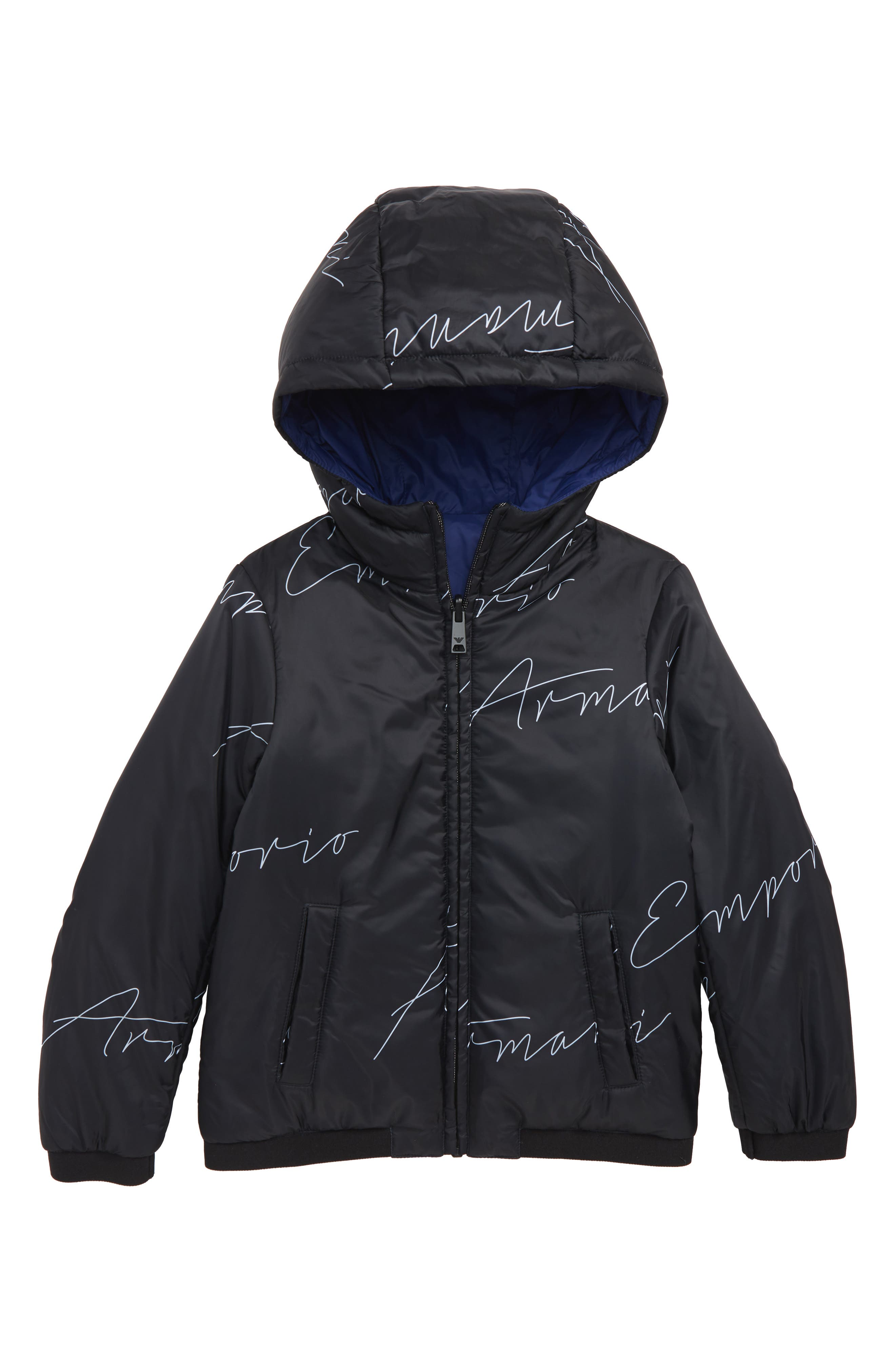 Armani Reversible Nylon Jacket,                         Main,                         color, MULTI