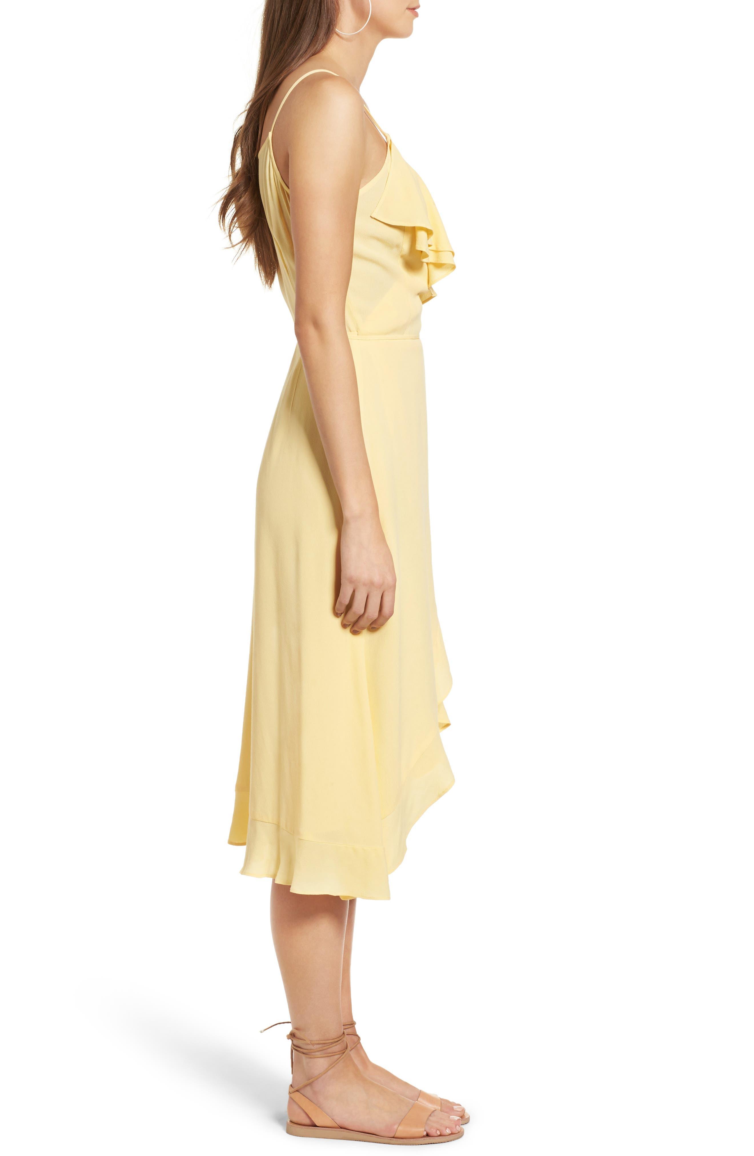 Flounce Wrap Midi Dress,                             Alternate thumbnail 13, color,