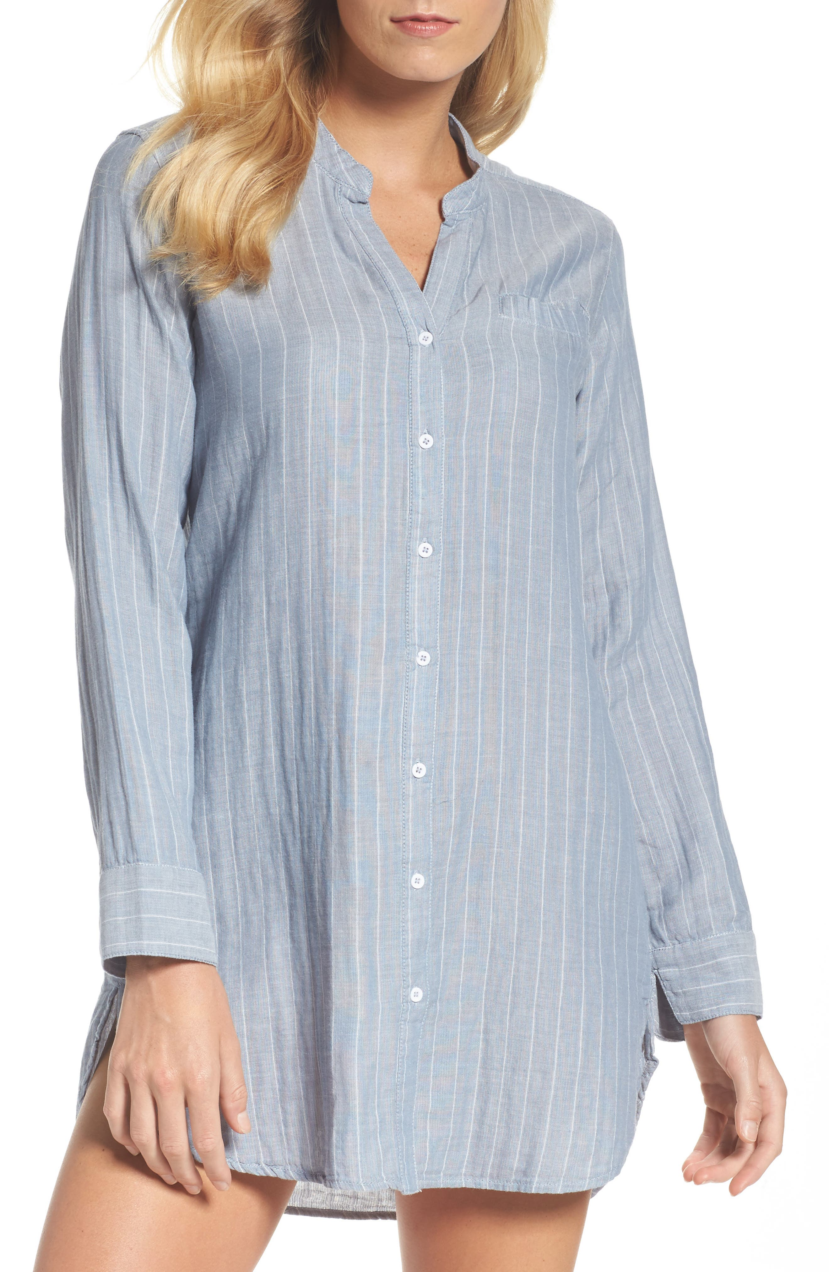 UGG Vivian Stripe Sleep Shirt,                         Main,                         color, 400