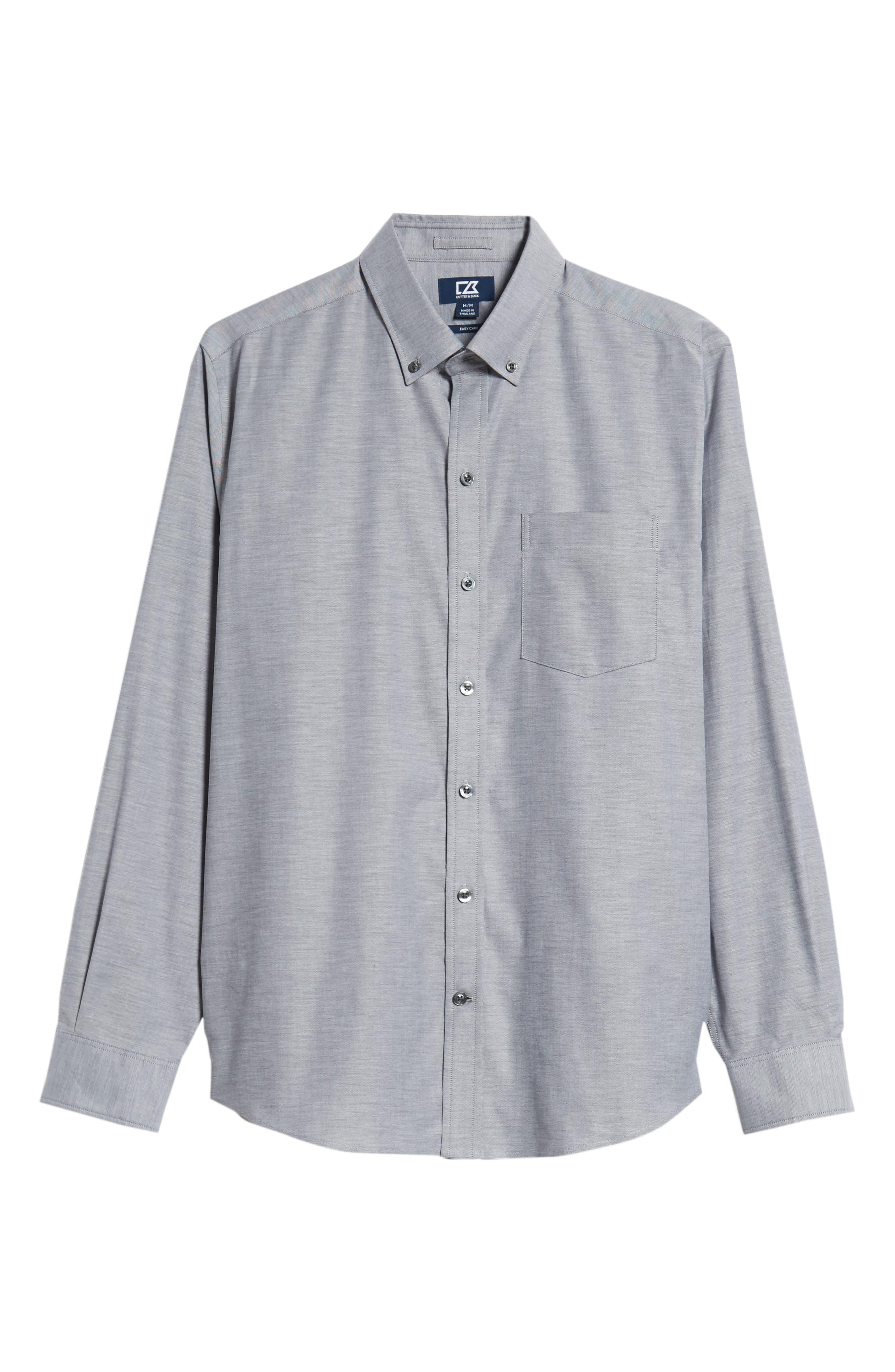Tailor Regular Fit Oxford Sport Shirt,                             Alternate thumbnail 5, color,                             CHARCOAL 2