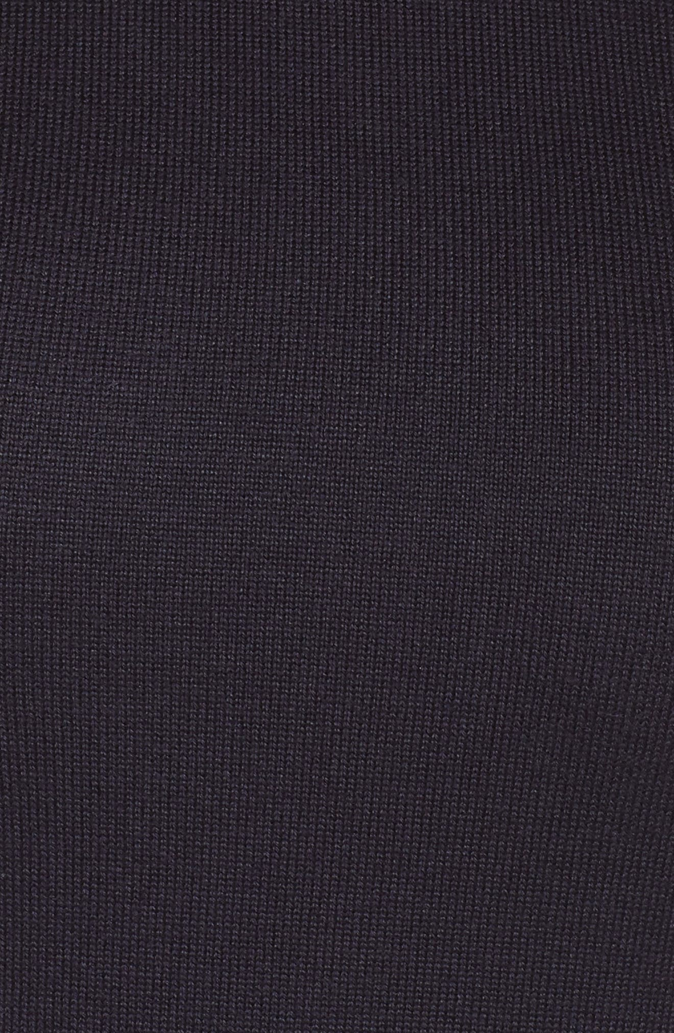 Tie Neck Fit & Flare Dress,                             Alternate thumbnail 6, color,                             NAVY