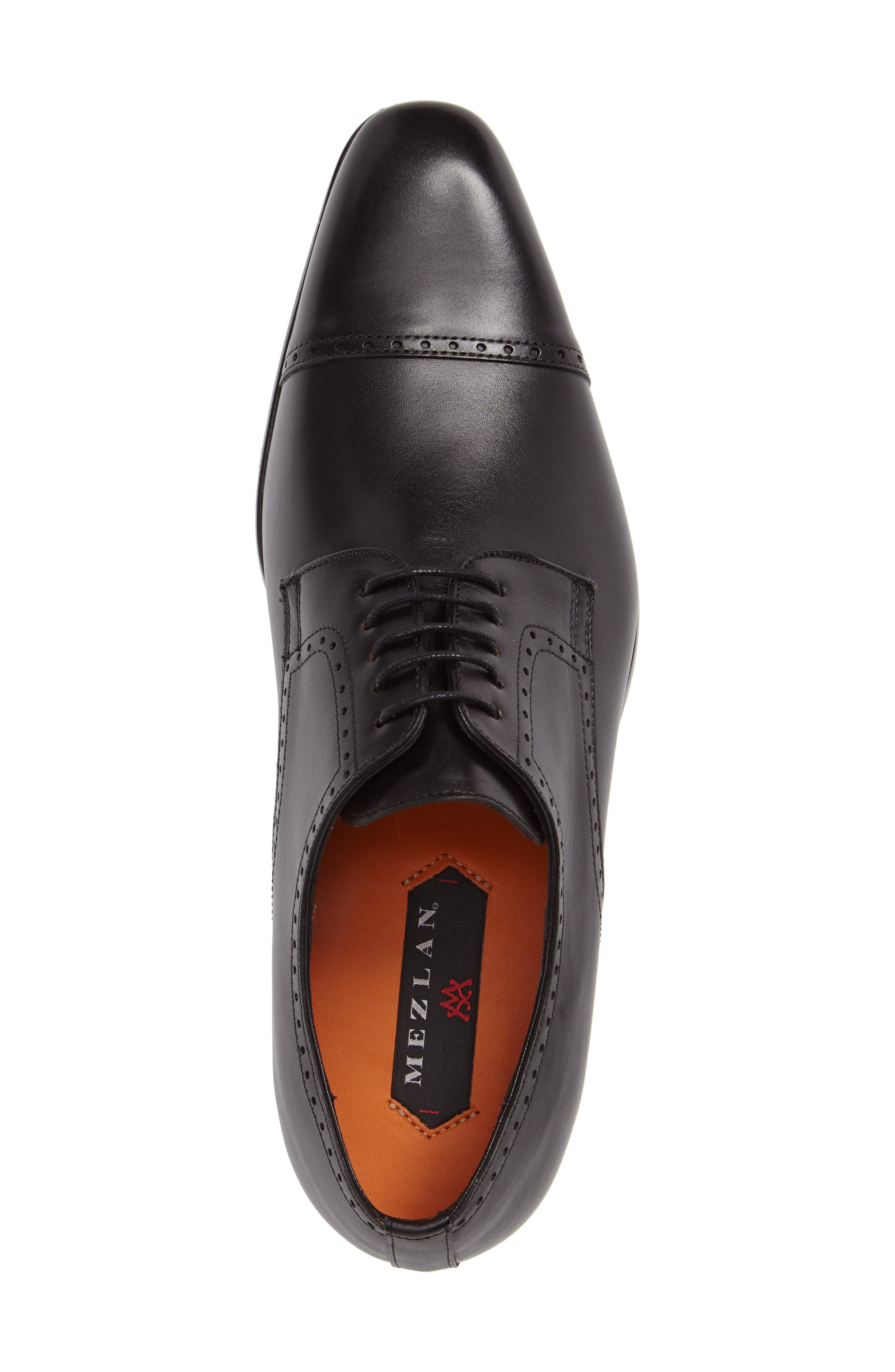 Boas Cap Toe Oxford,                             Alternate thumbnail 3, color,                             BLACK LEATHER