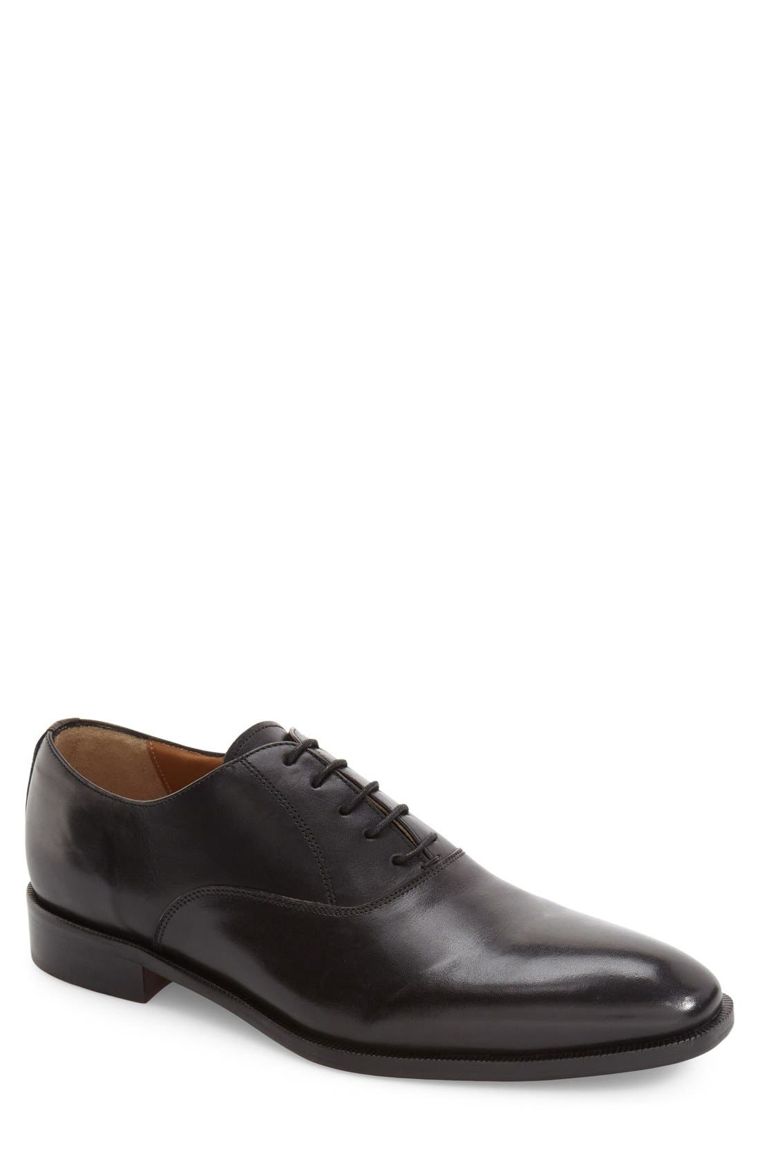 Top Coat Plain Toe Oxford,                             Main thumbnail 1, color,                             001
