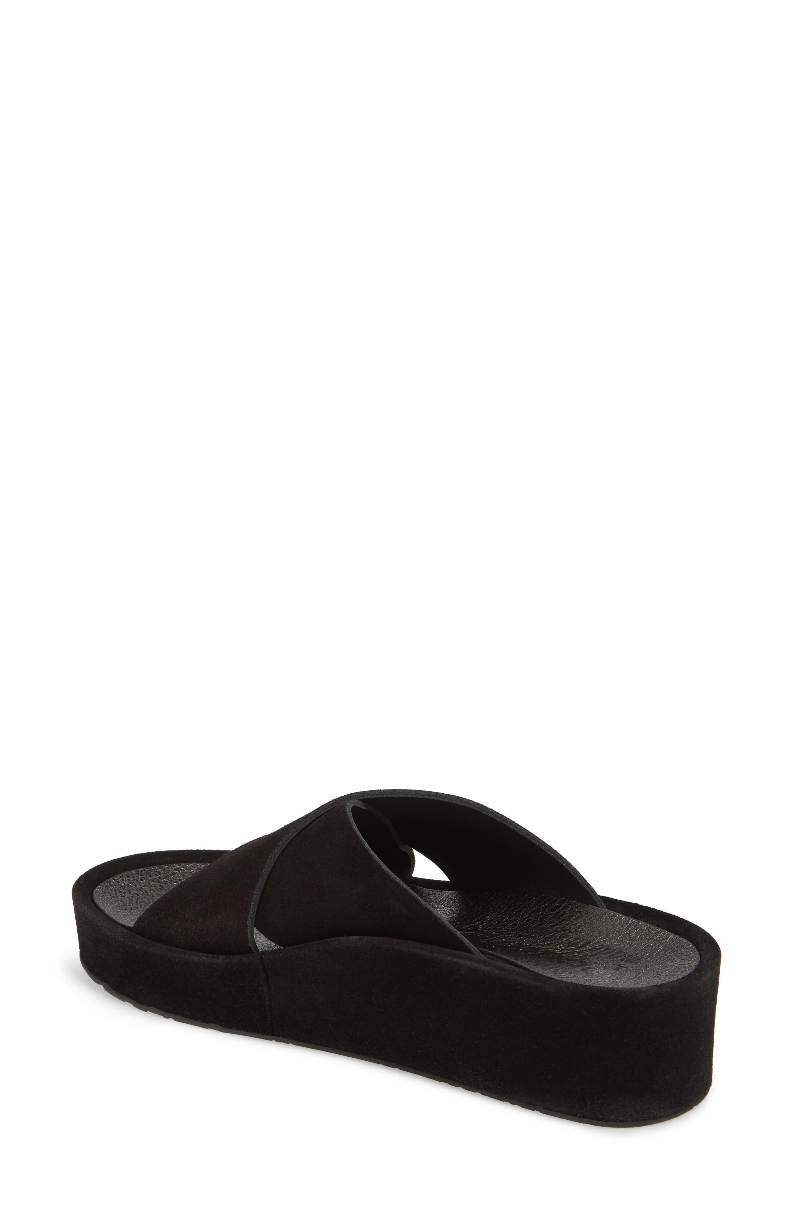 Lucca Platform Slide Sandal,                             Alternate thumbnail 2, color,                             BLACK