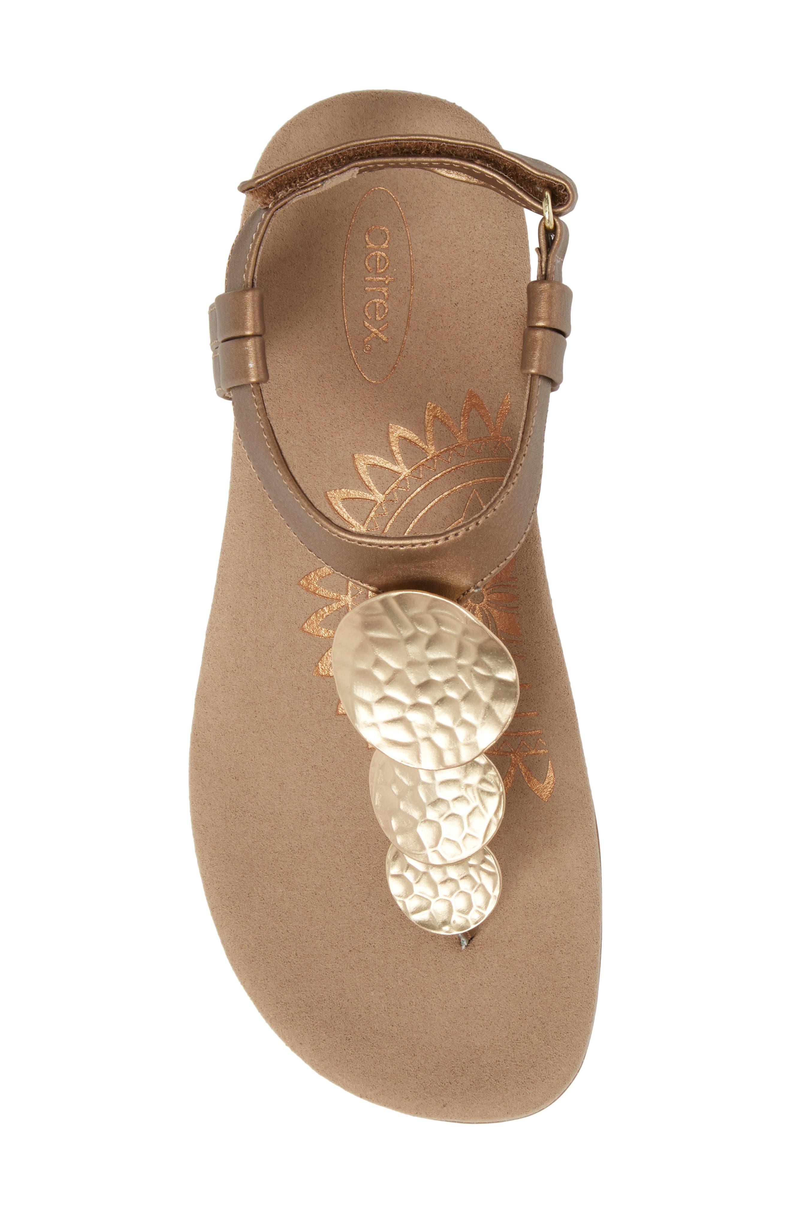 Olive T-Strap Sandal,                             Alternate thumbnail 15, color,