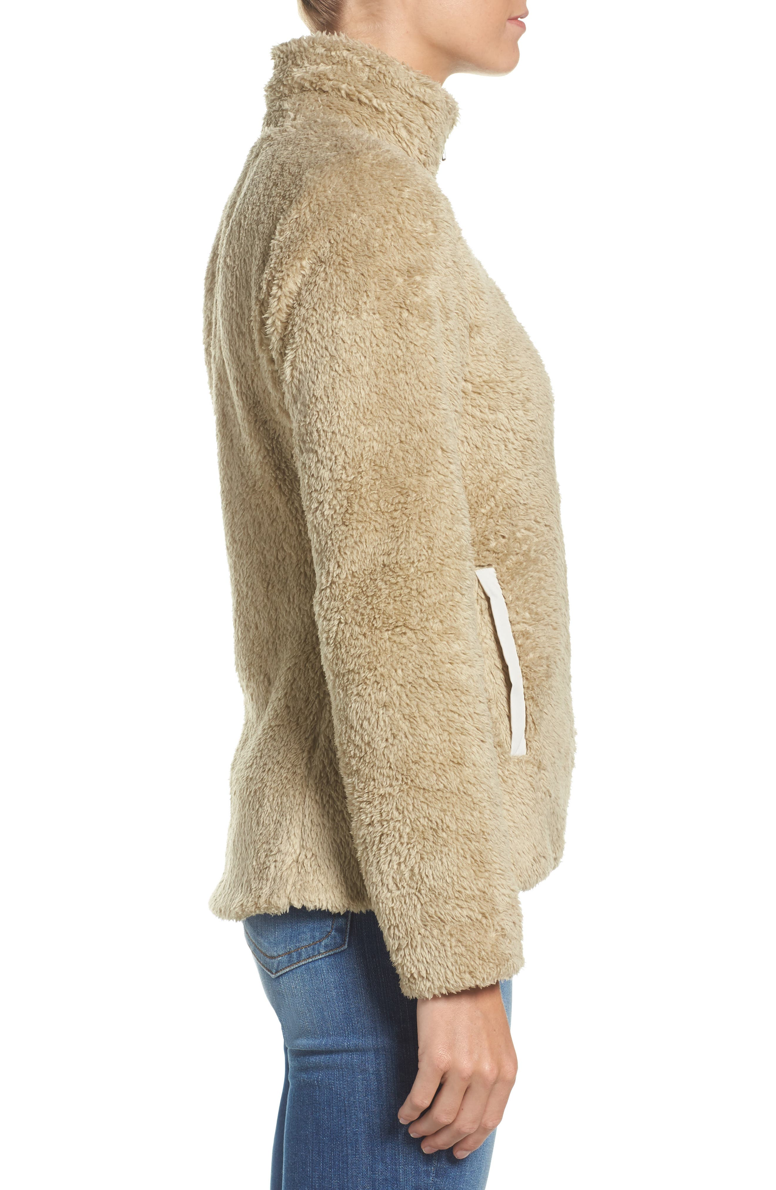 Los Gatos Fleece Jacket,                             Alternate thumbnail 3, color,                             EL CAP KHAKI