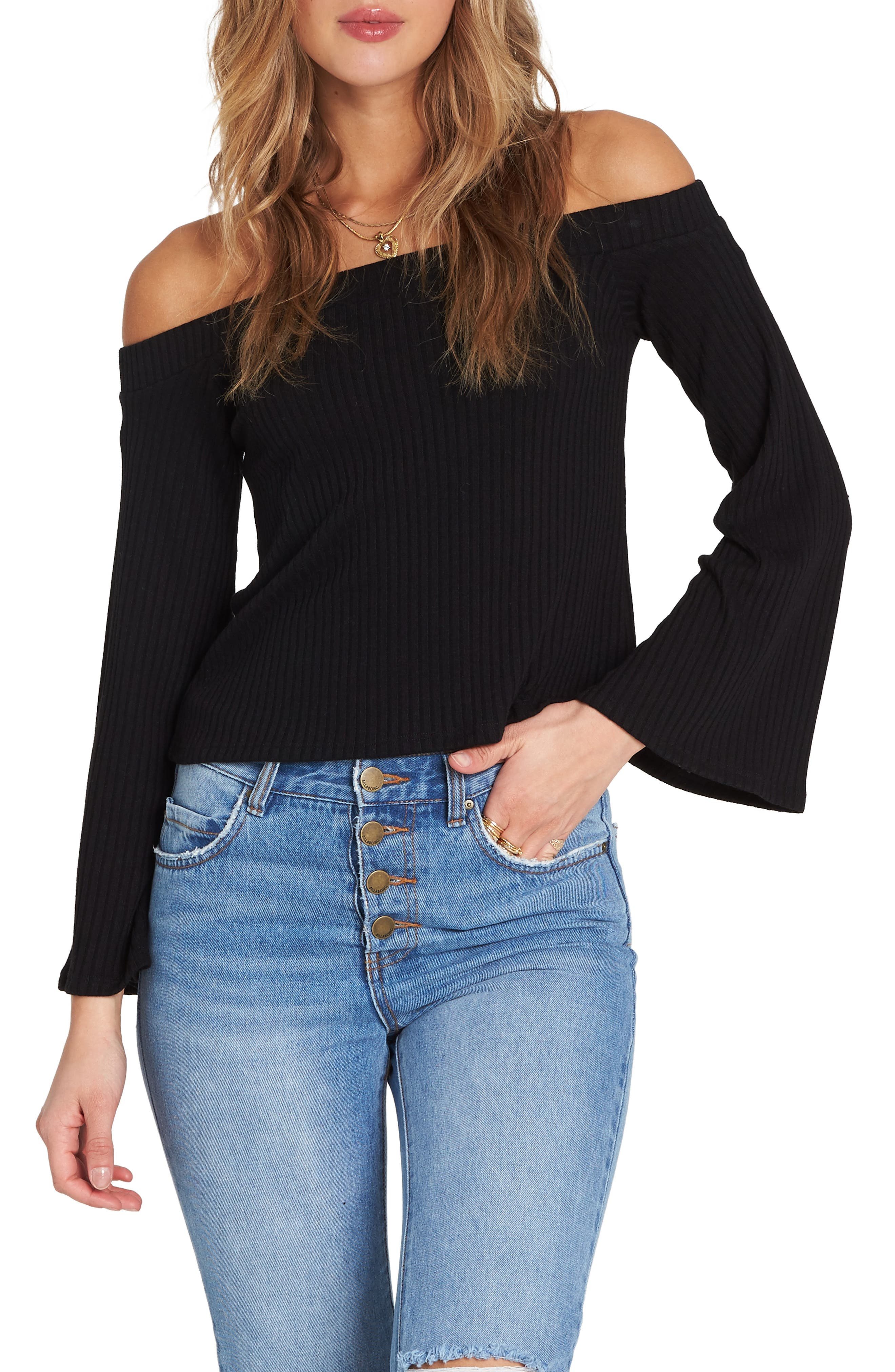 Fly Far Off The Shoulder Top,                         Main,                         color, 001