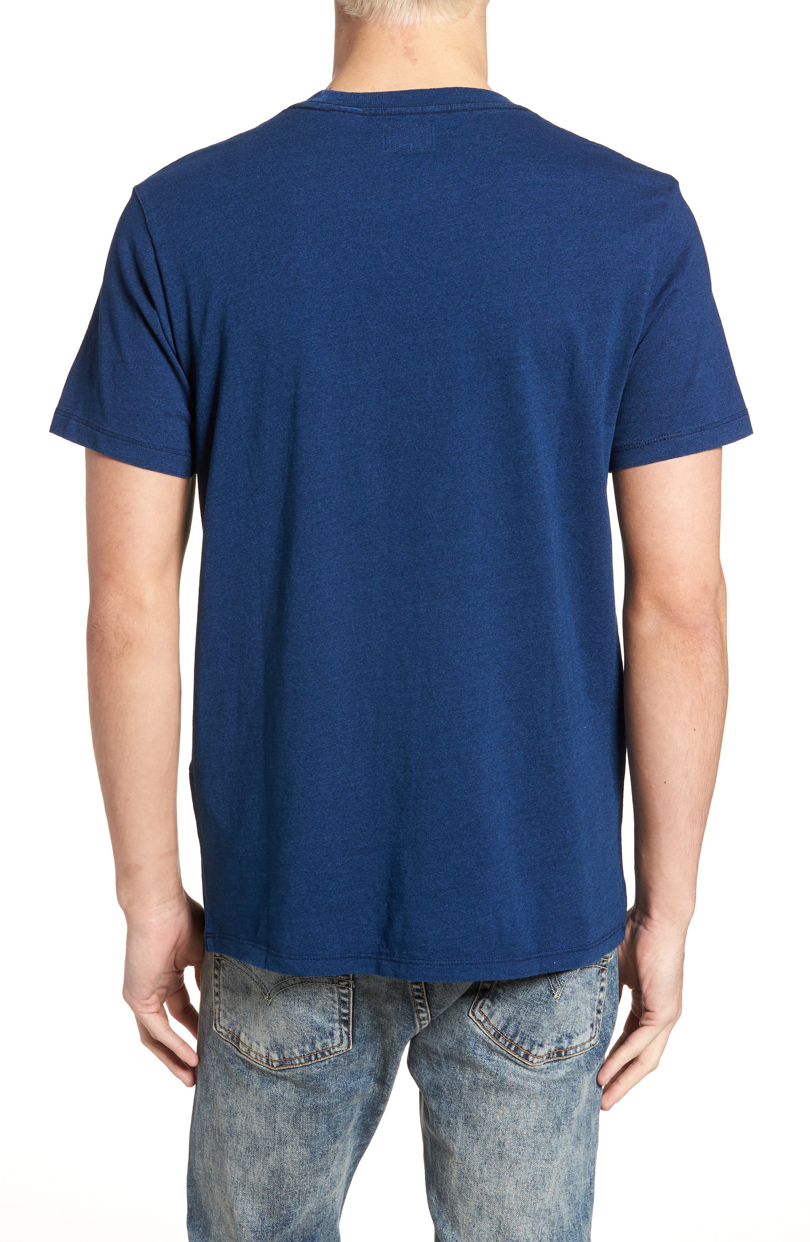 Pocket T-Shirt,                             Alternate thumbnail 2, color,                             MEDIUM INDIGO XX