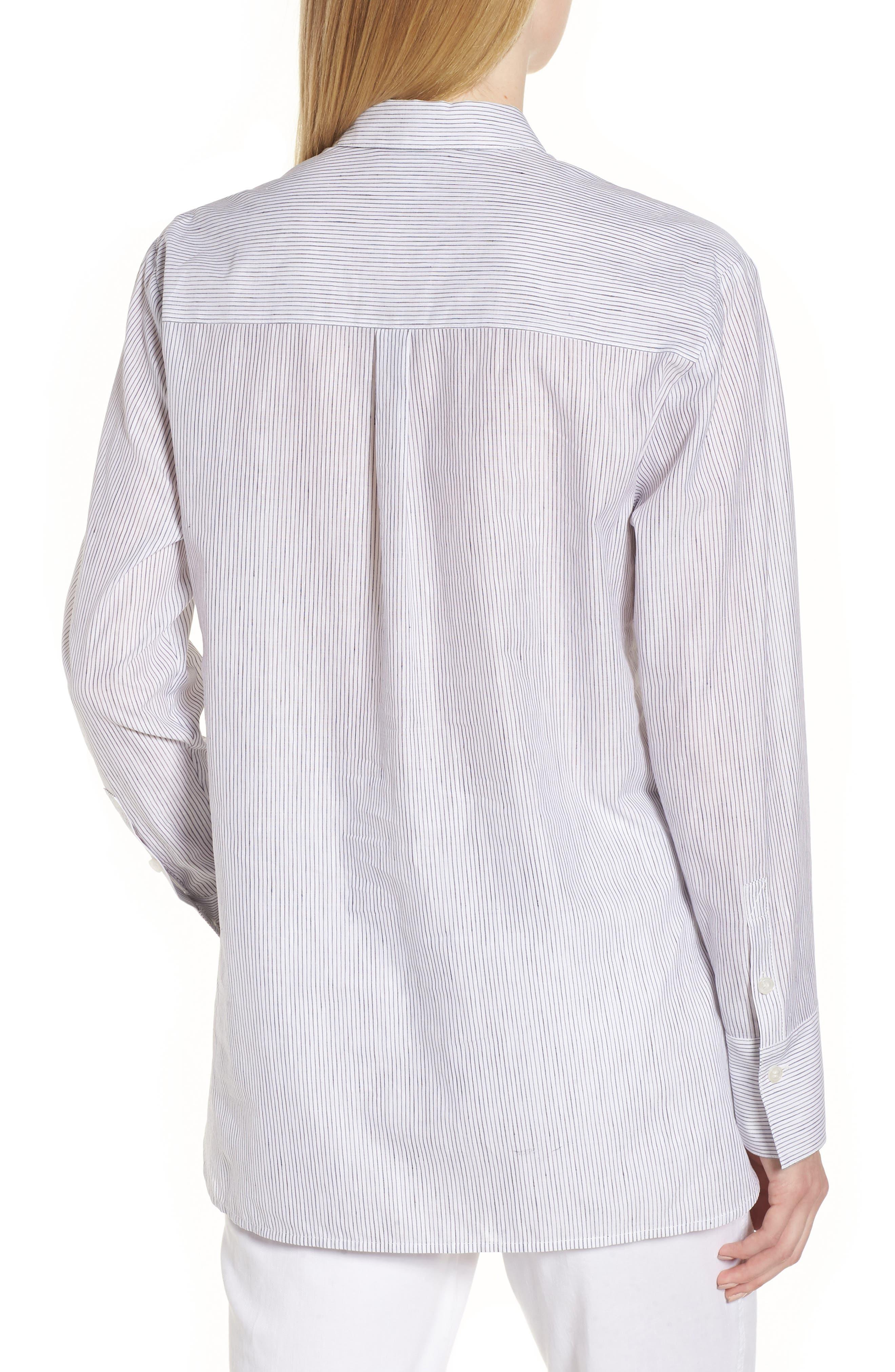 Stripe Popover Shirt,                             Alternate thumbnail 2, color,                             100