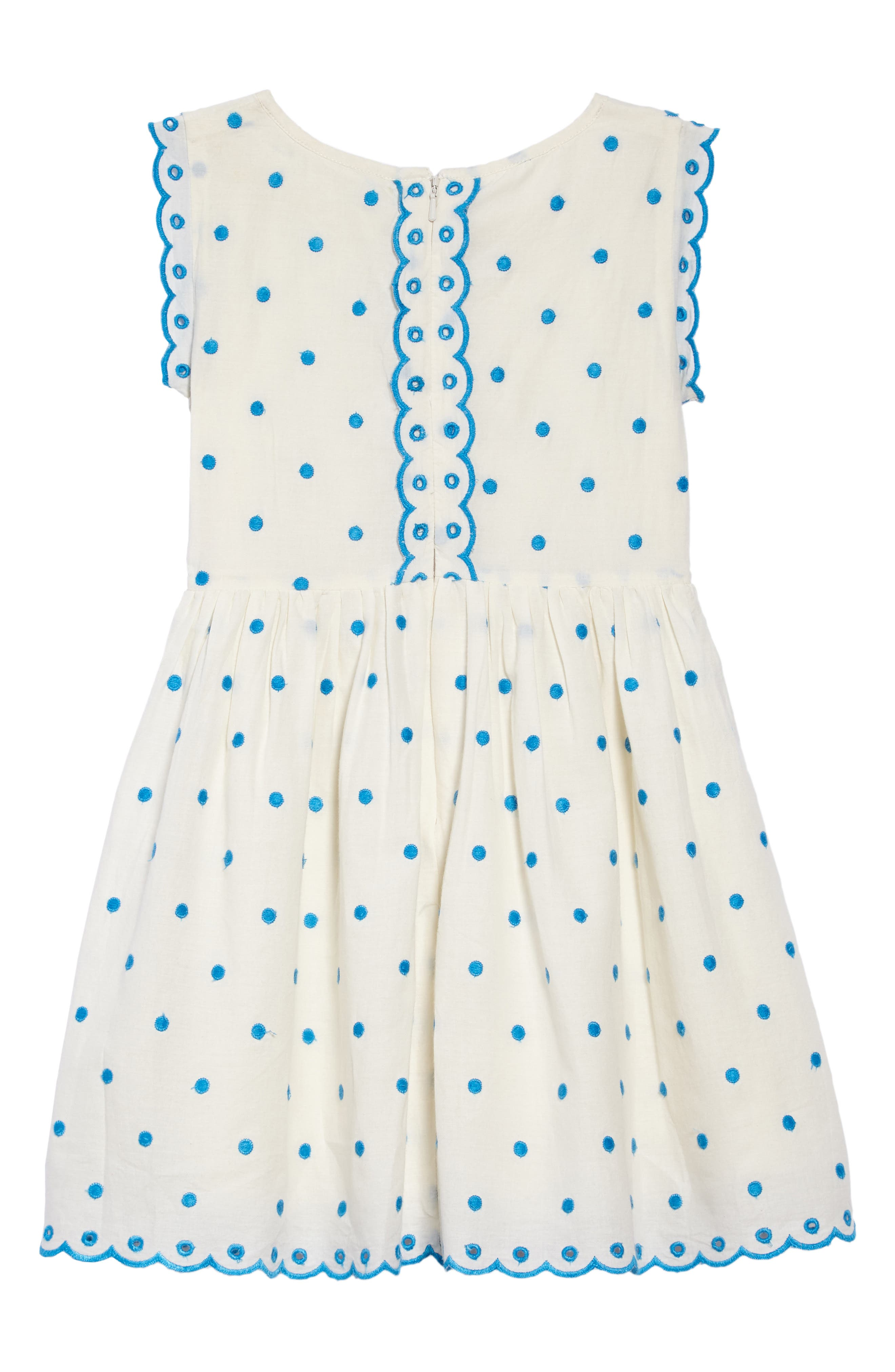 Embroidered Dot Scalloped Dress,                             Alternate thumbnail 2, color,