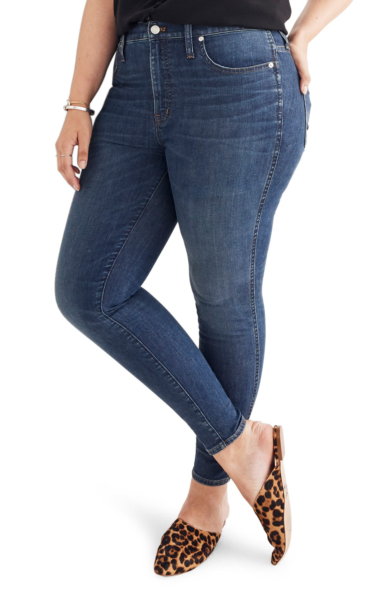 Eco Collection High Rise Skinny Jeans,                             Alternate thumbnail 8, color,                             ELINOR