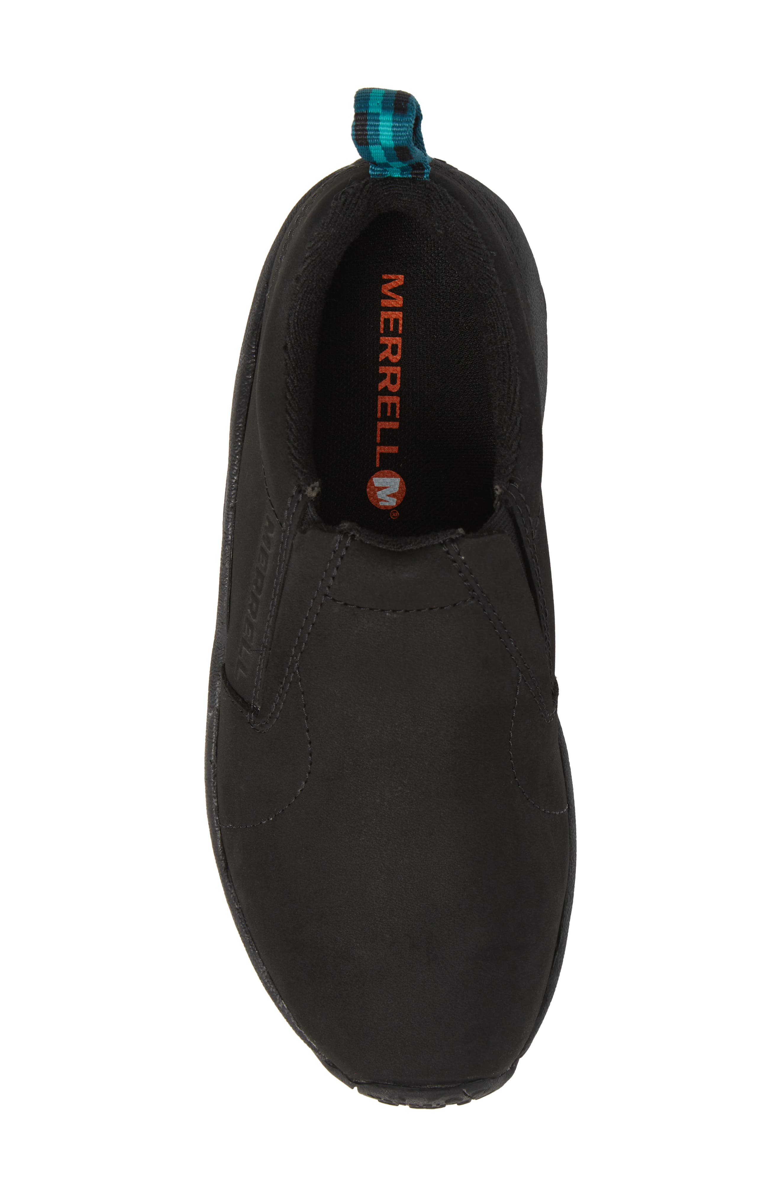 Jungle Moc Nubuck Sneaker,                             Alternate thumbnail 5, color,                             BLACK LEATHER