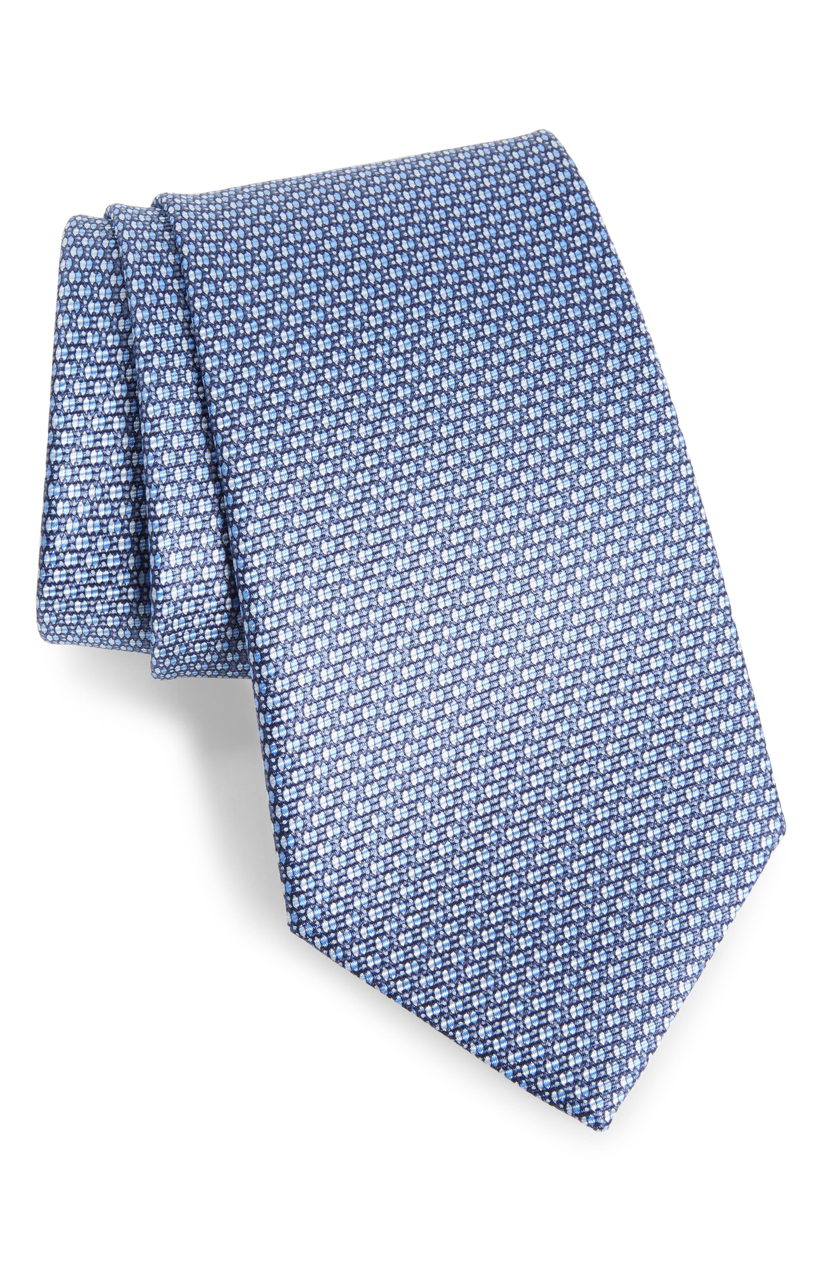 Geometric Silk Tie,                             Main thumbnail 1, color,                             438
