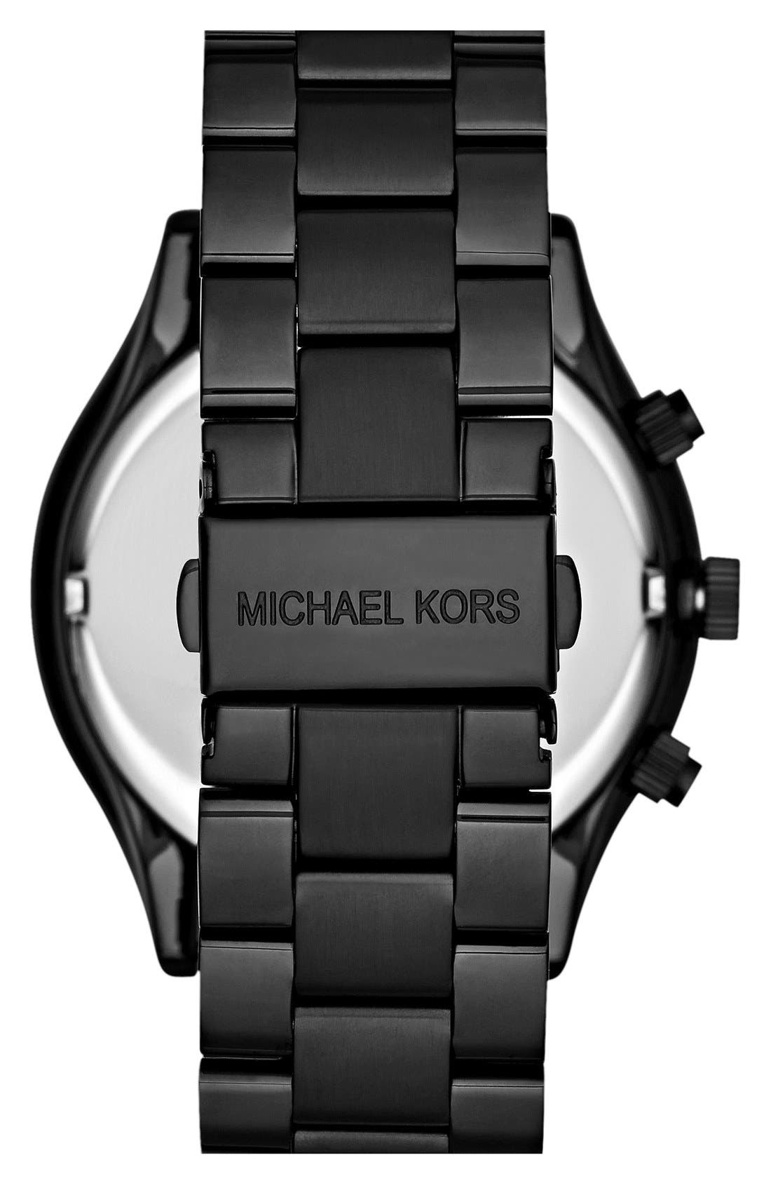 Michael Kors 'Slim Runway' Chronograph Bracelet Watch, 42mm,                             Alternate thumbnail 7, color,