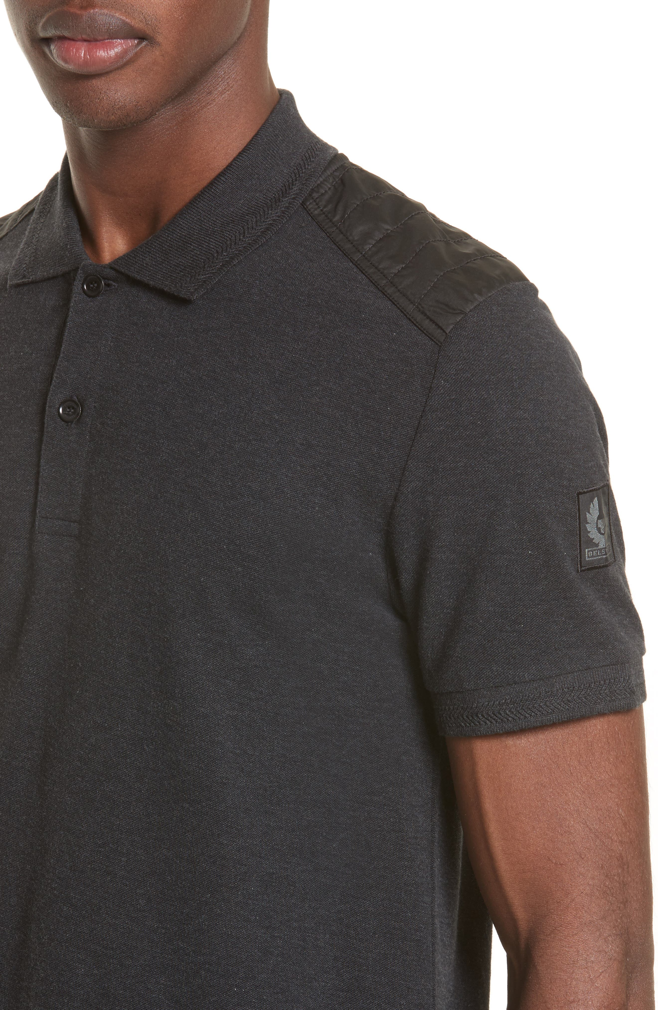 HItchin Extra Trim Fit Piqué Polo,                             Alternate thumbnail 16, color,