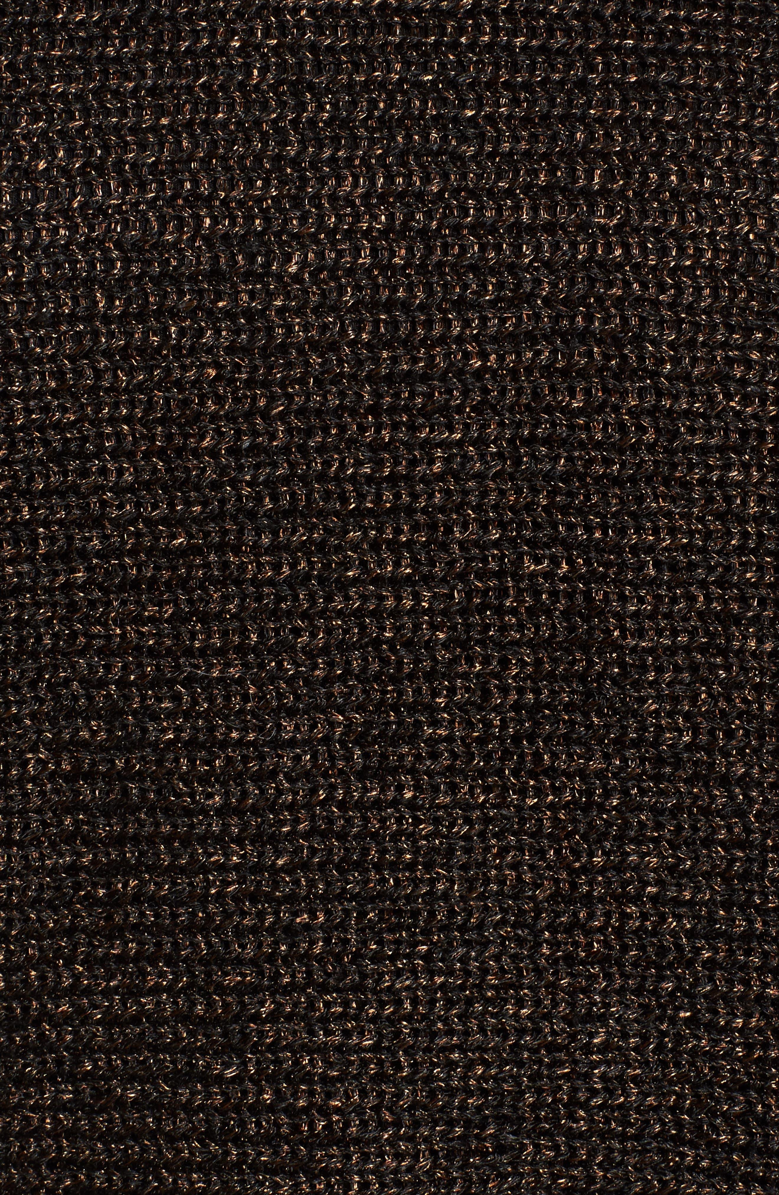 Metallic Organic Linen Blend Sweater,                             Alternate thumbnail 5, color,                             207