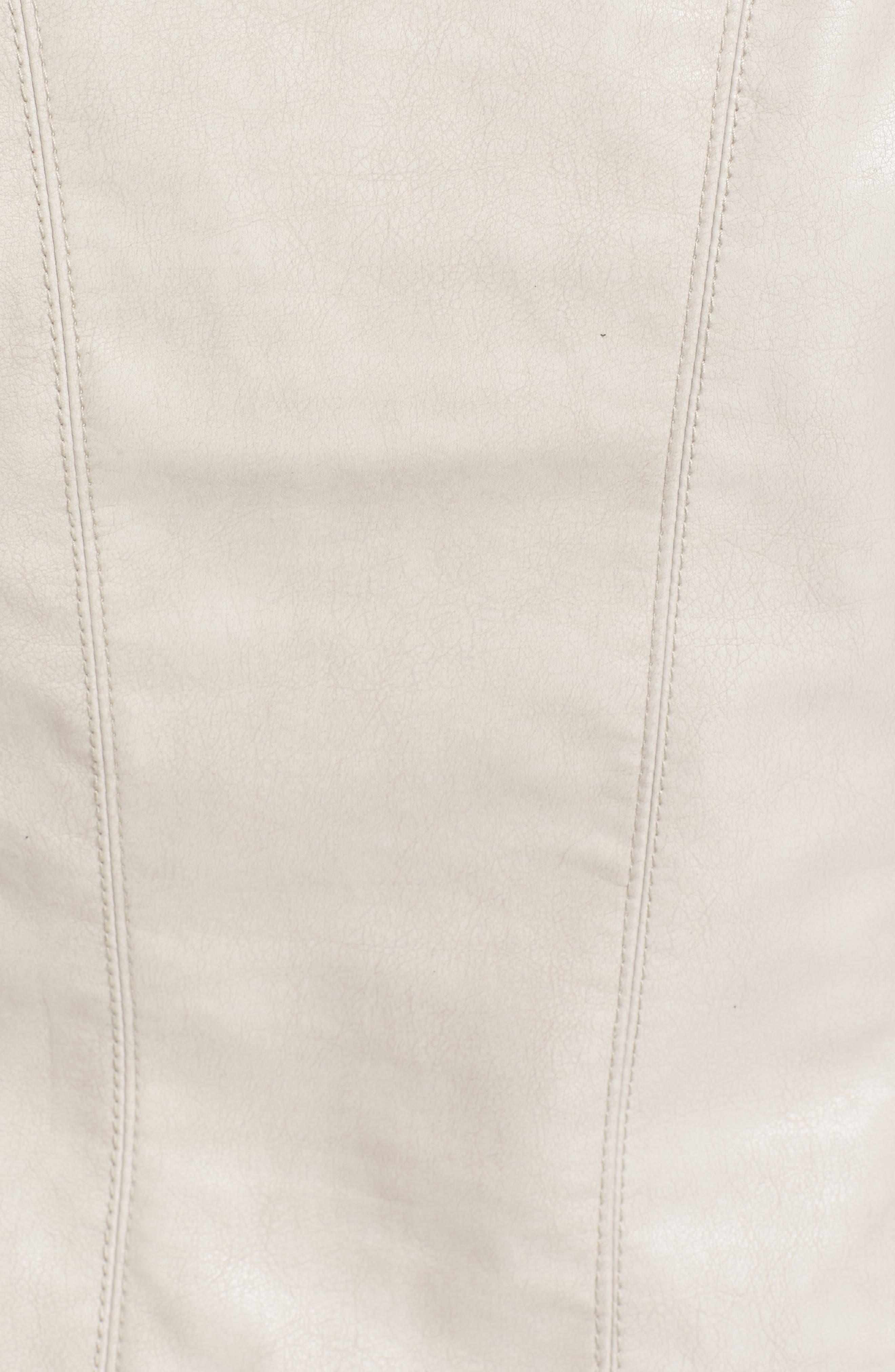 Faux Leather Jacket,                             Alternate thumbnail 26, color,