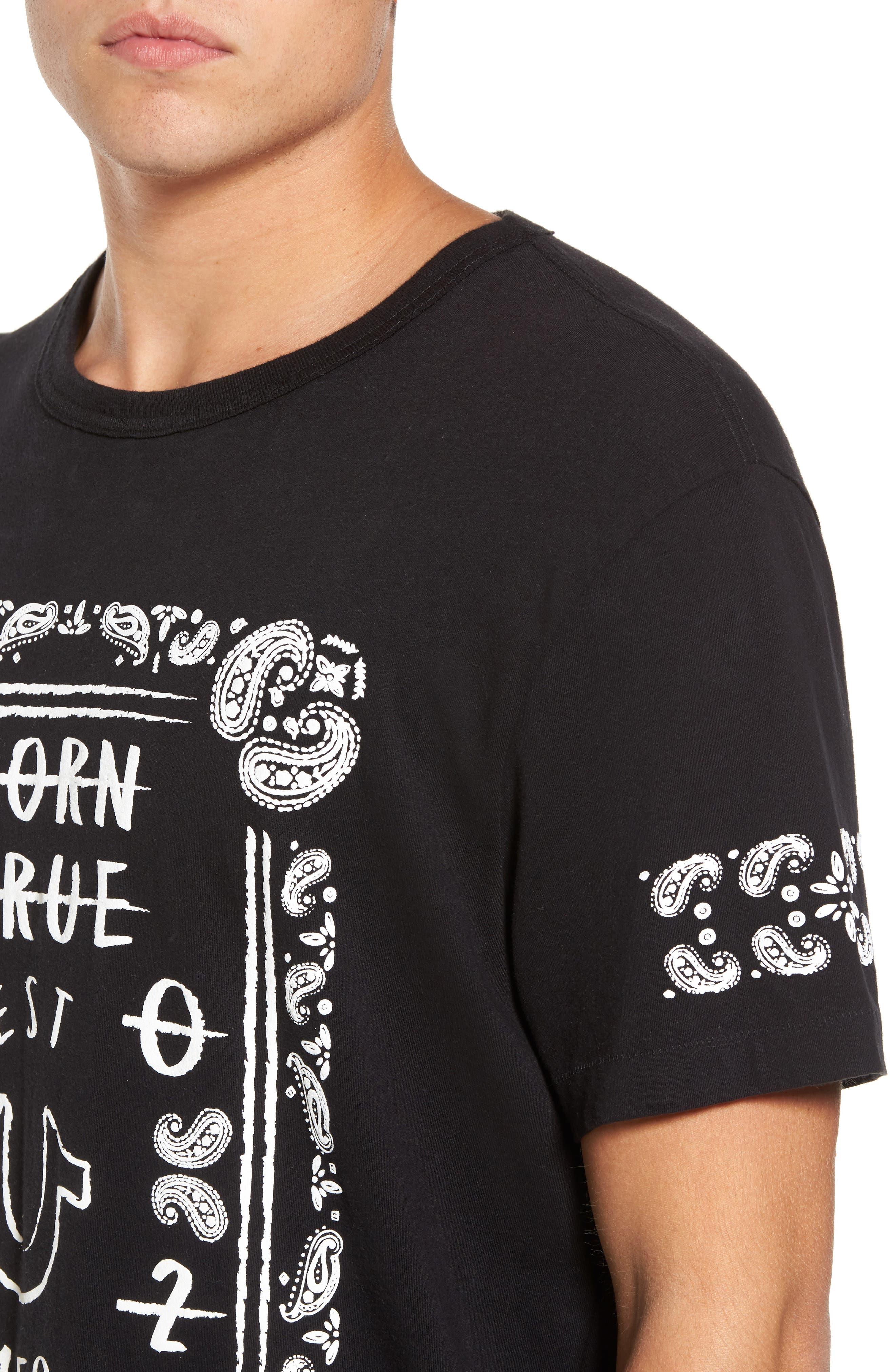 Born True Graphic T-Shirt,                             Alternate thumbnail 4, color,                             001