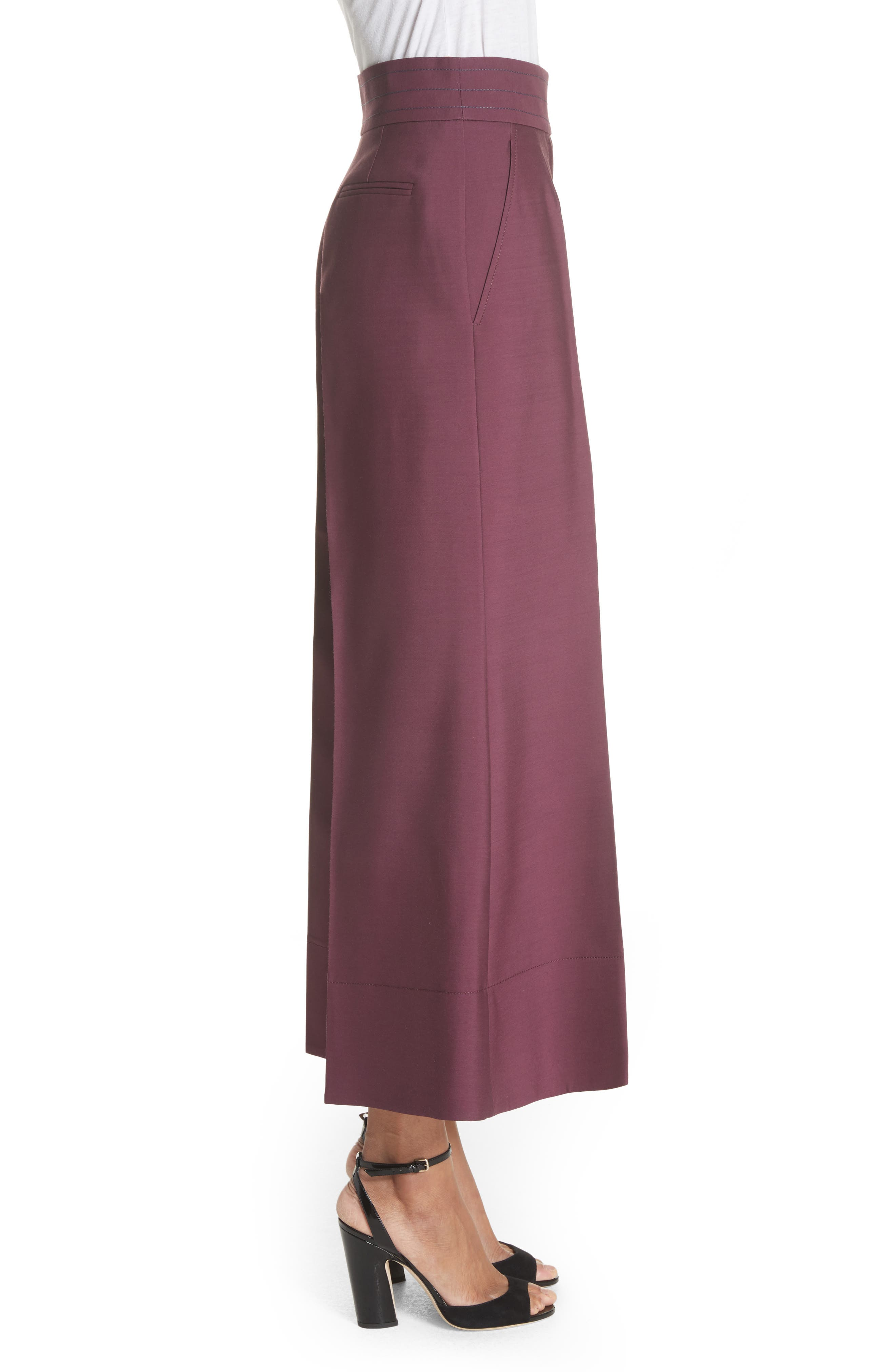 Sina Wide Leg Trousers,                             Alternate thumbnail 3, color,