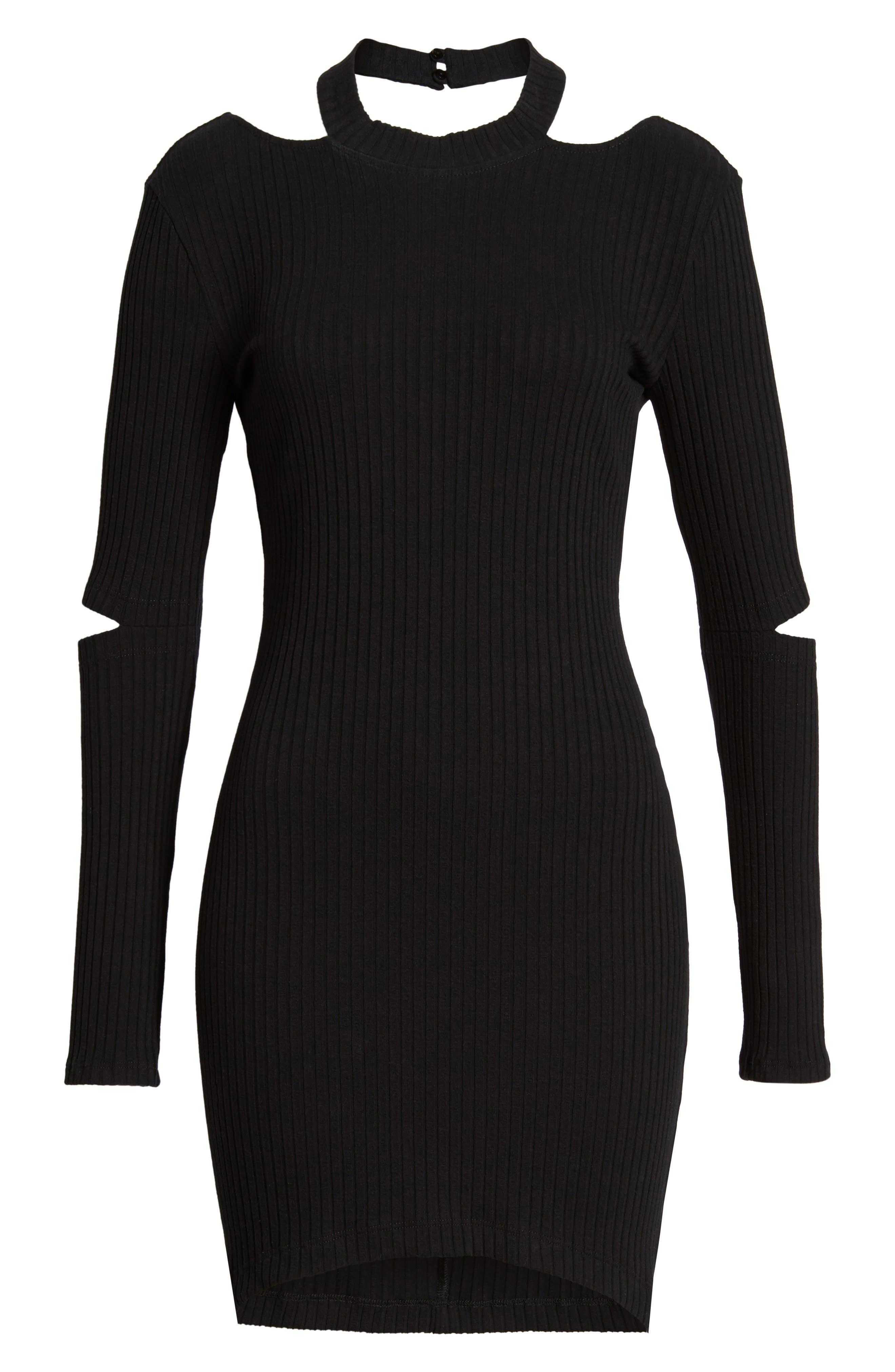Elbow Cutout Dress,                             Alternate thumbnail 6, color,                             001