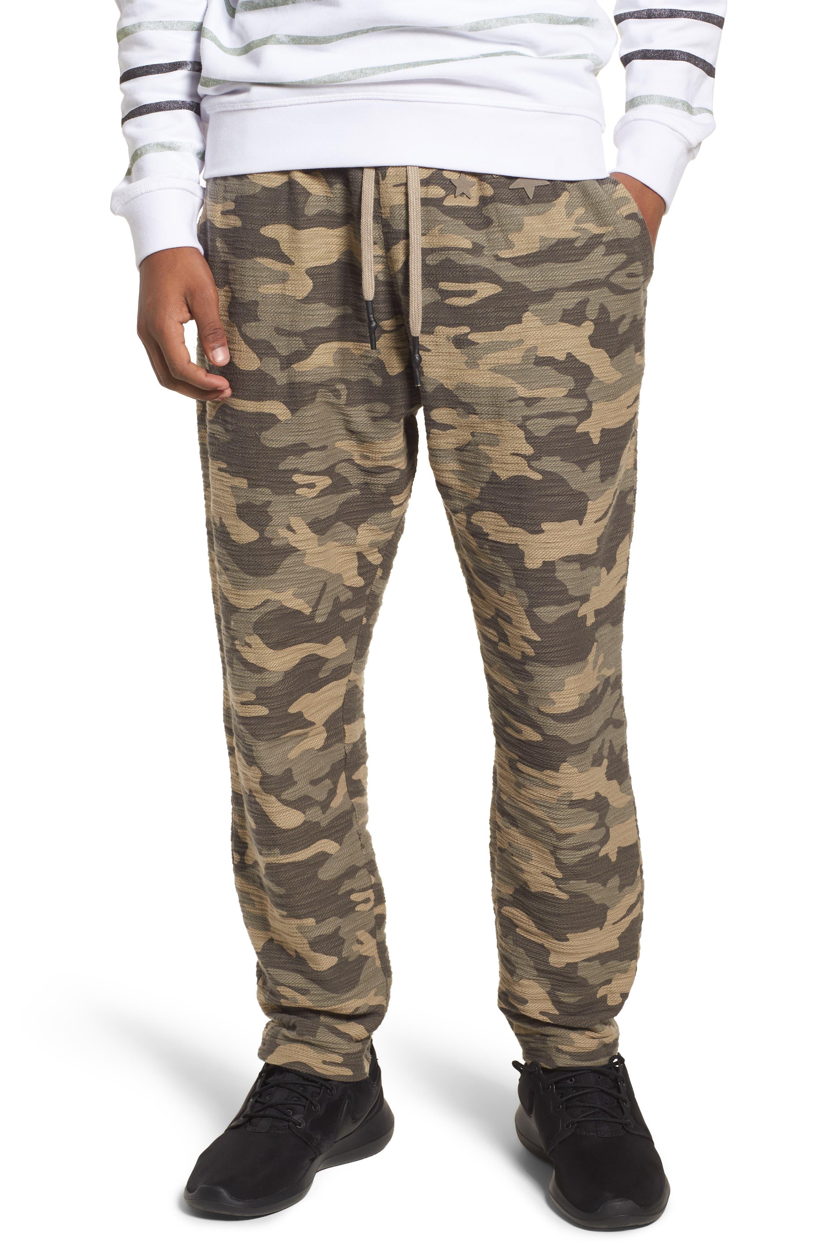Camo Fleece Sweatpants, Main, color, 300