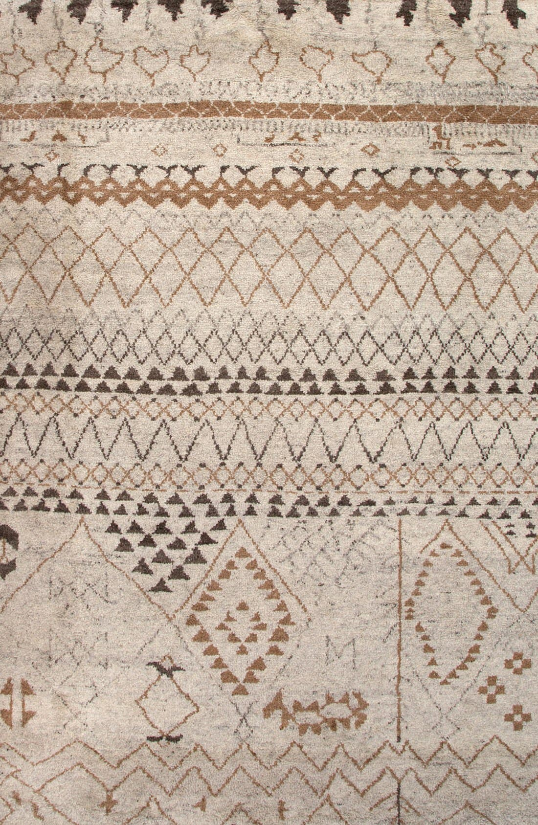 'Zola Zag' Wool Area Rug,                             Main thumbnail 1, color,                             IVORY/ TAUPE