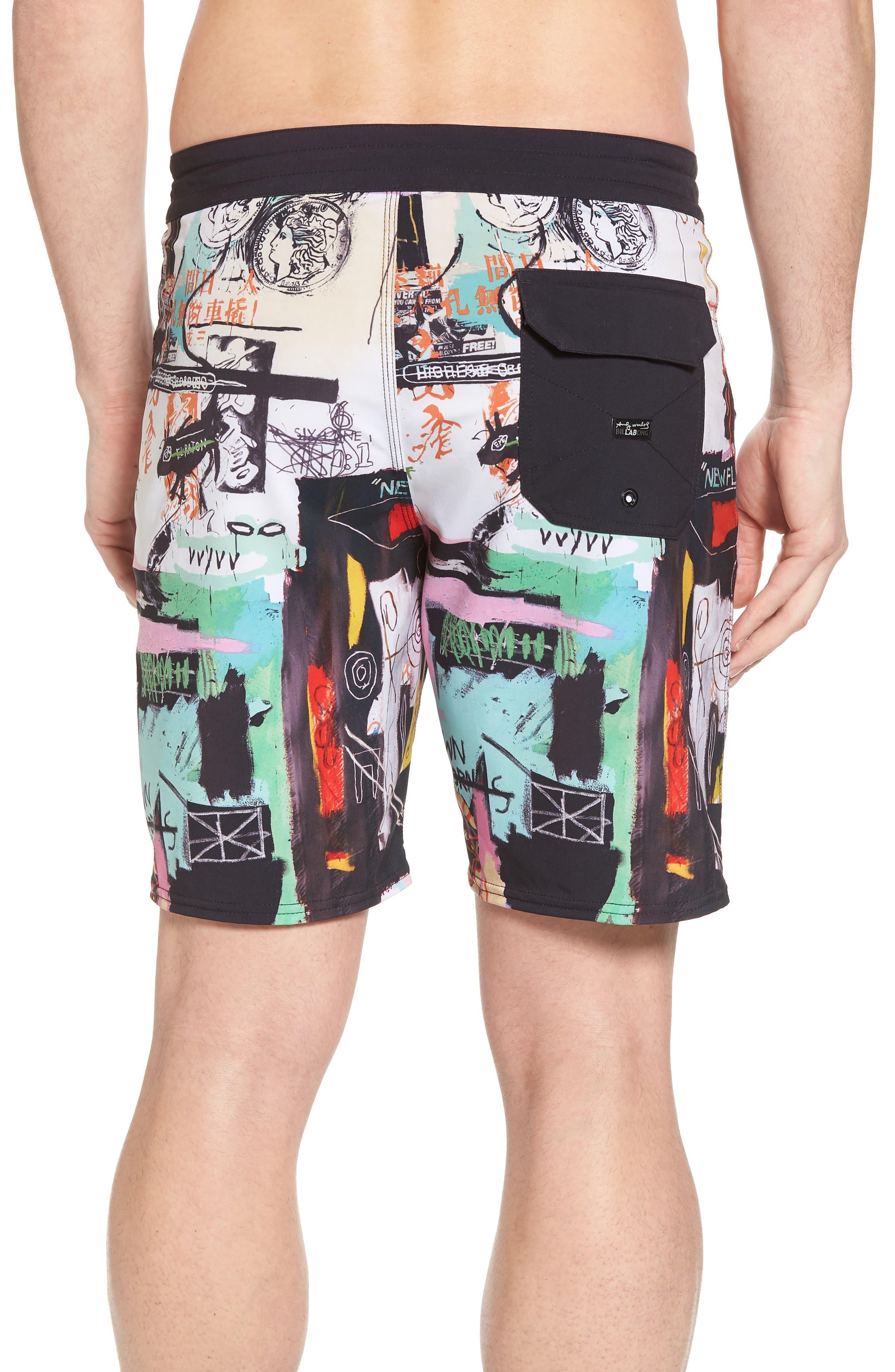 x Warhol Factory X Board Shorts,                             Alternate thumbnail 2, color,                             100