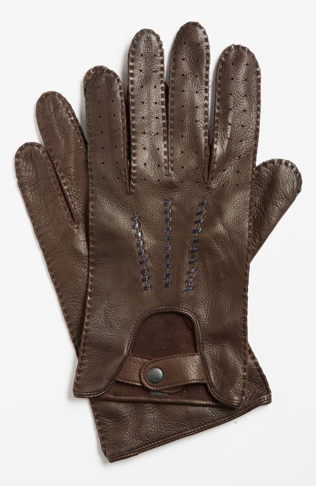 Deerskin Driving Gloves,                             Main thumbnail 3, color,