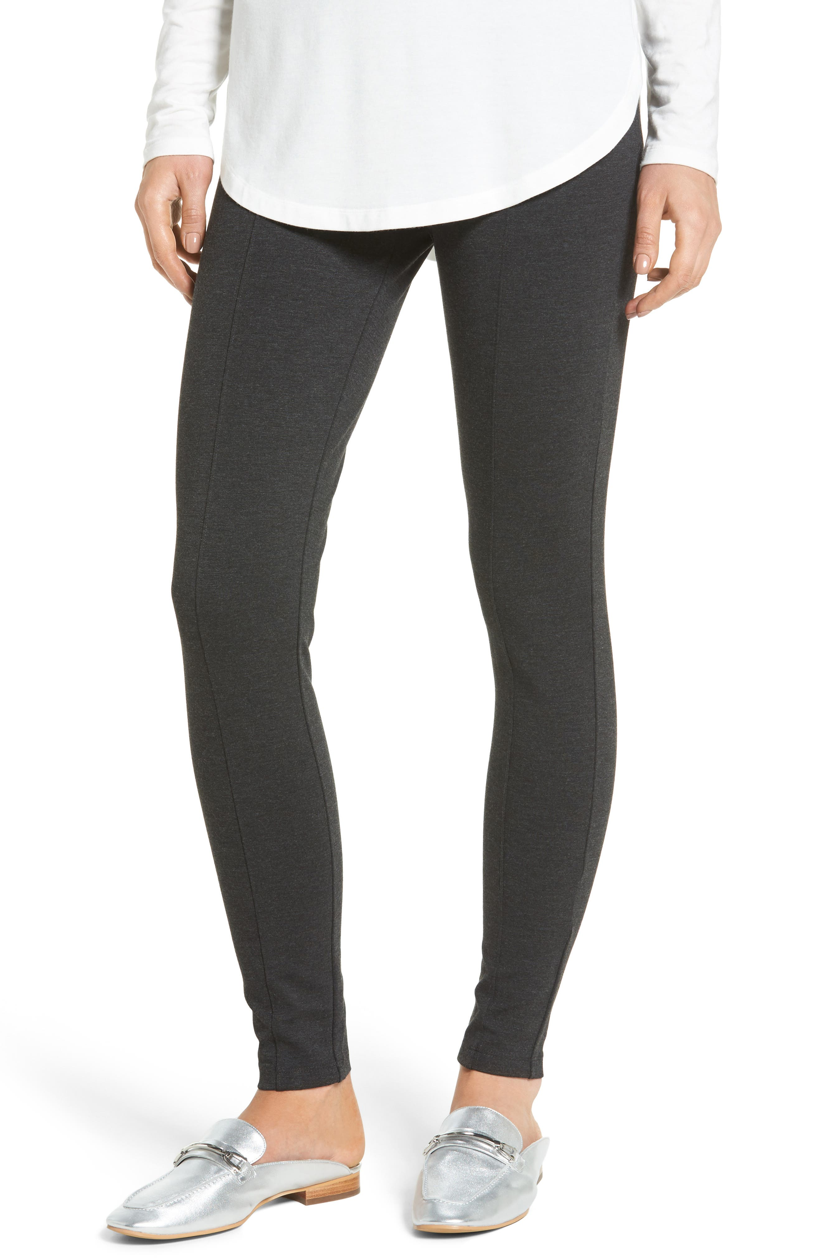 Seamed Leggings,                         Main,                         color, HEATHER CHARCOAL