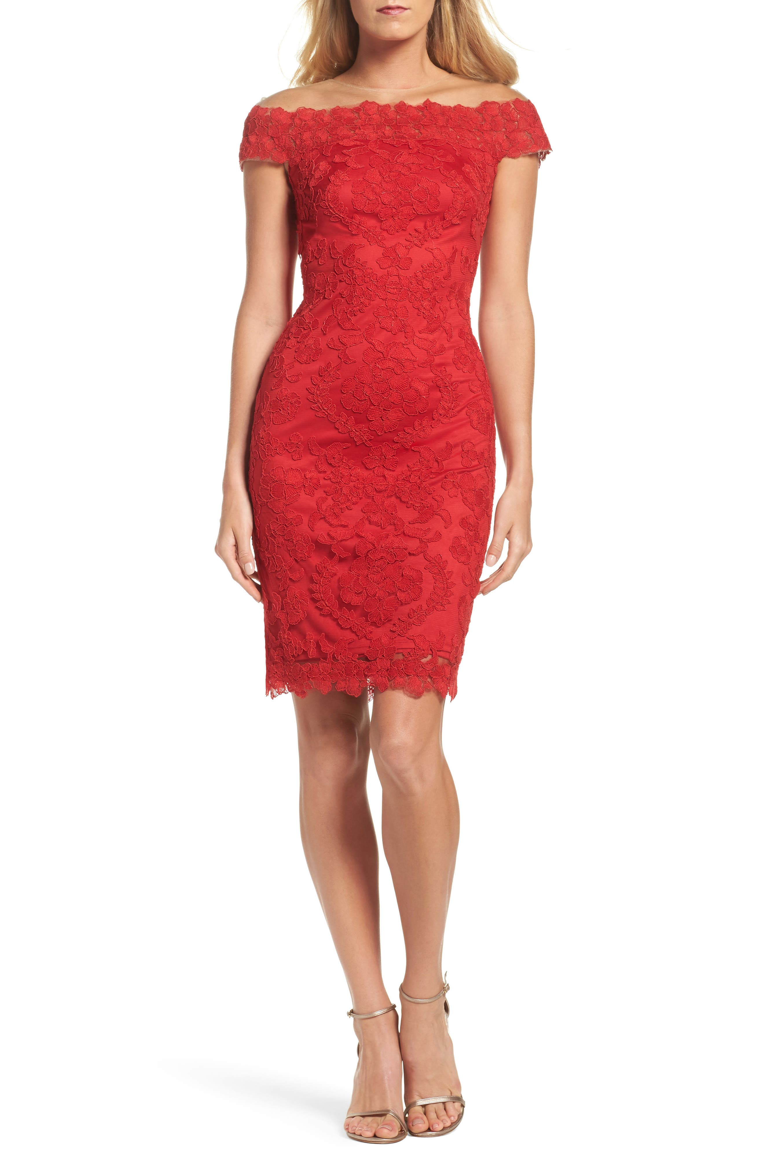 Embroidered Sheath Dress,                             Alternate thumbnail 5, color,                             611