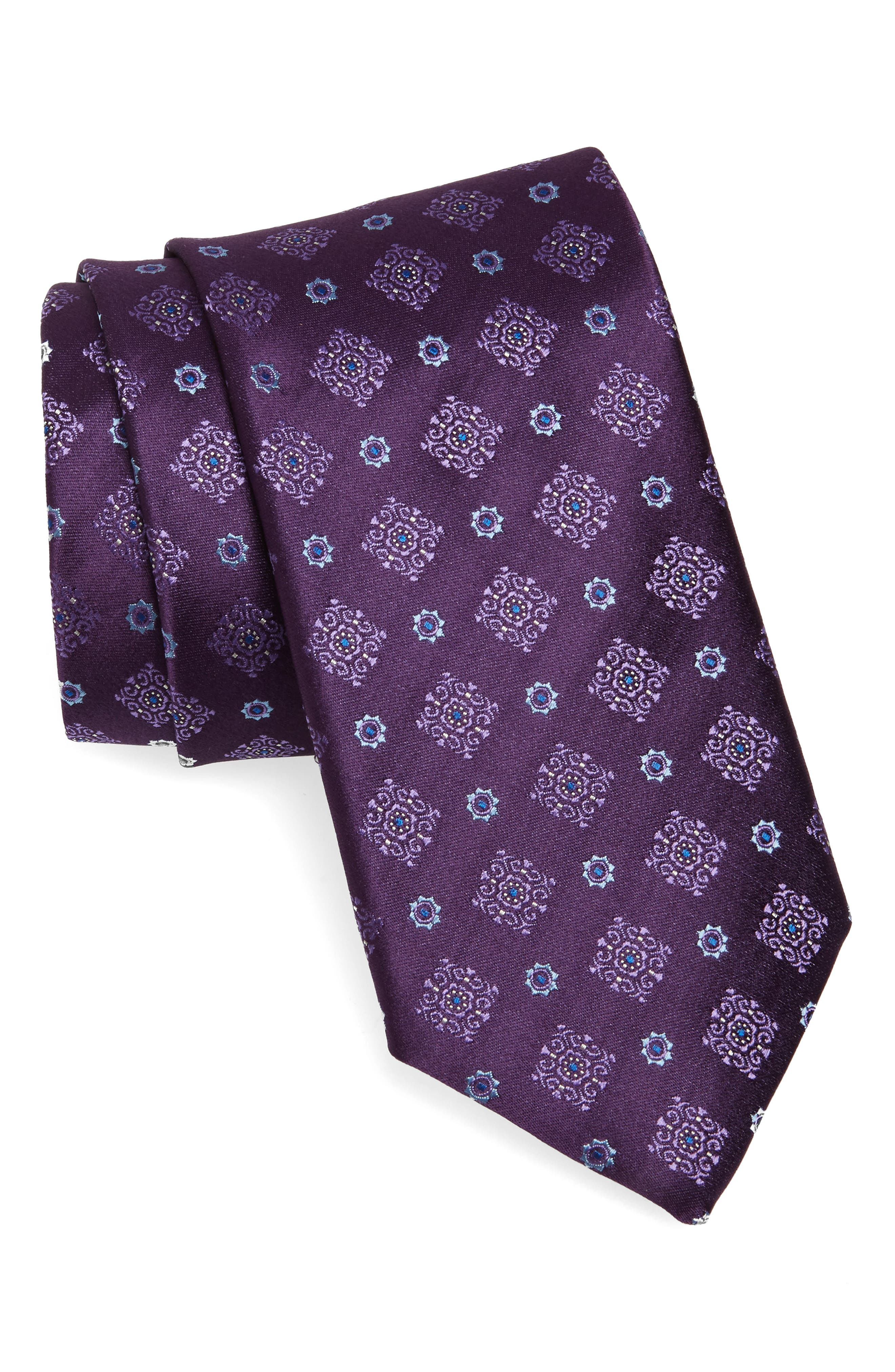 Medallion Silk Tie,                             Main thumbnail 2, color,