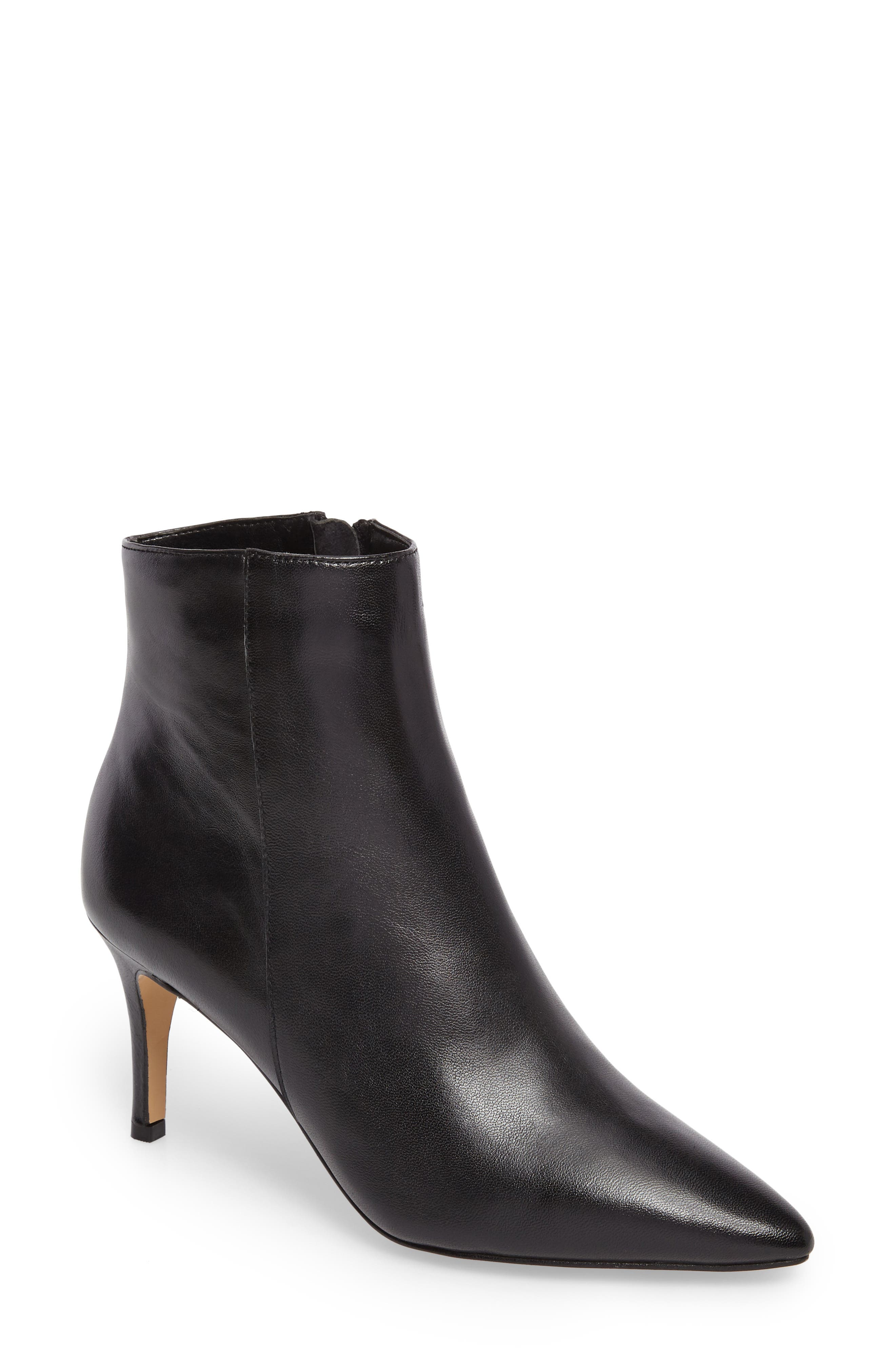 Anita Bootie,                             Main thumbnail 1, color,                             BLACK LEATHER