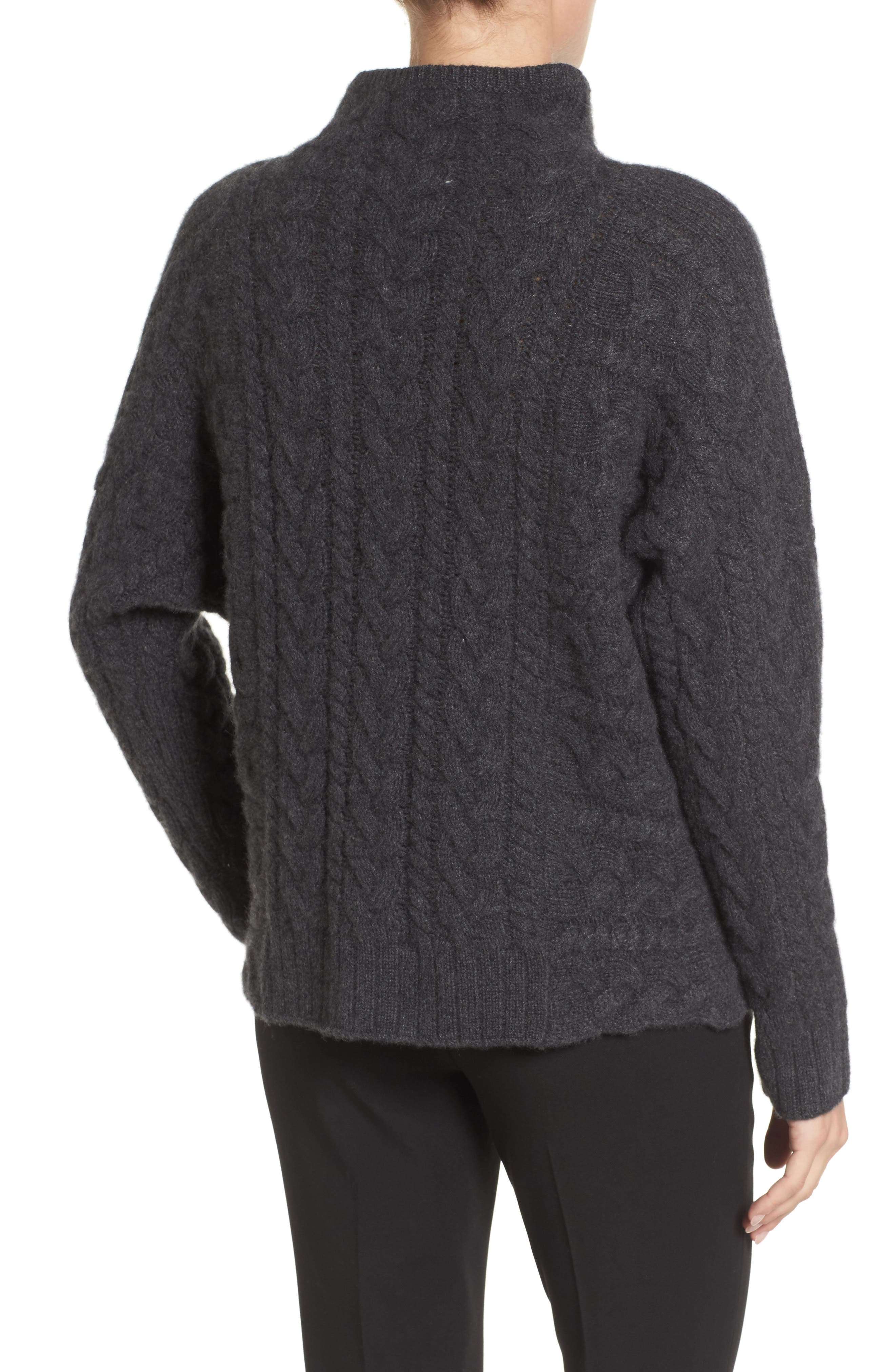 Cashmere Cable Sweater,                             Alternate thumbnail 2, color,                             021