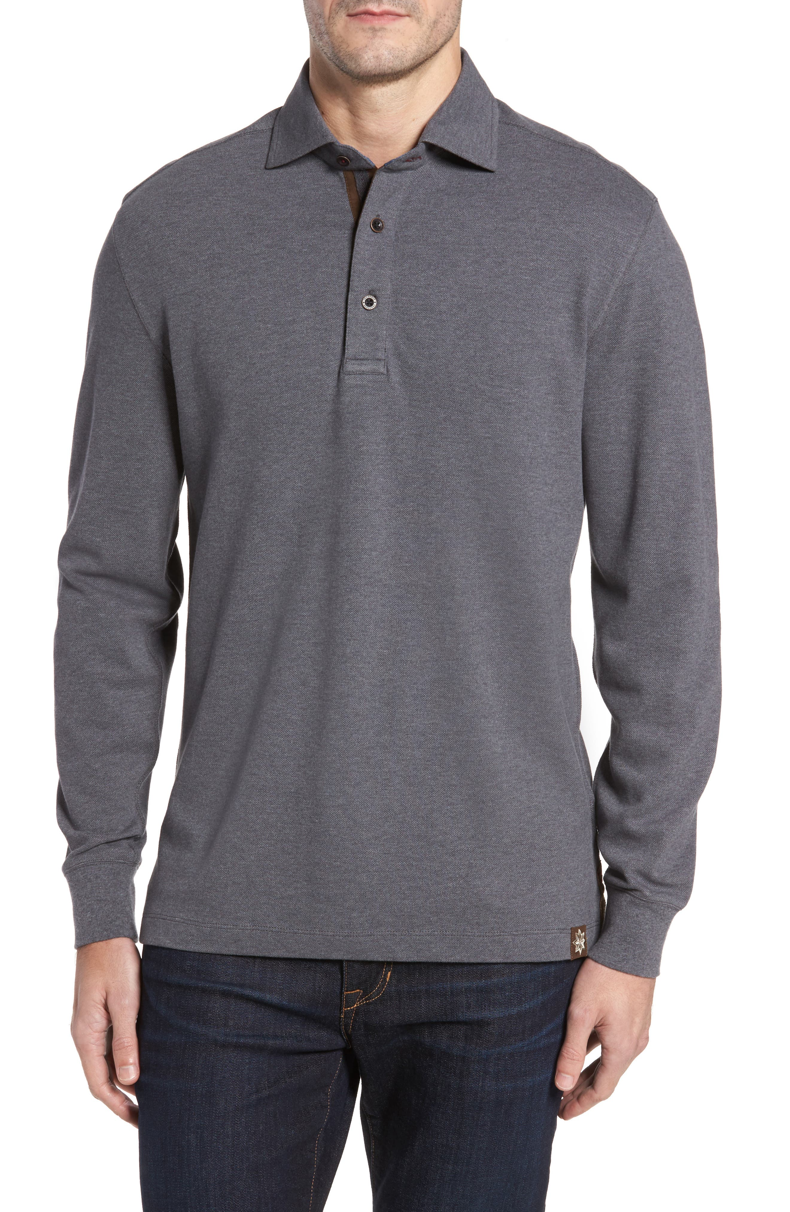 Perry Long Sleeve Polo,                         Main,                         color, 014
