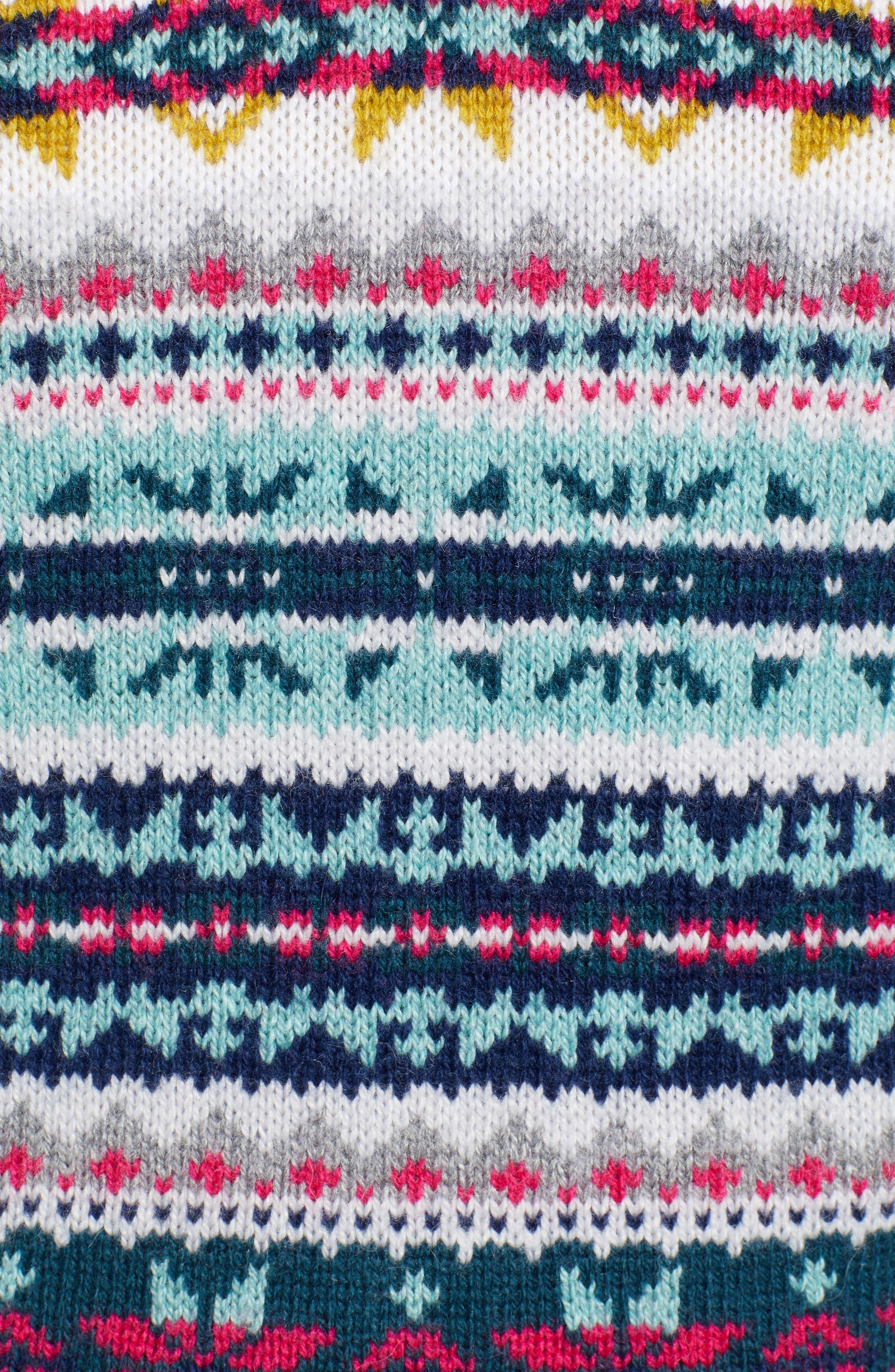 Fair Isle Cotton Wool Sweater,                             Alternate thumbnail 5, color,                             030