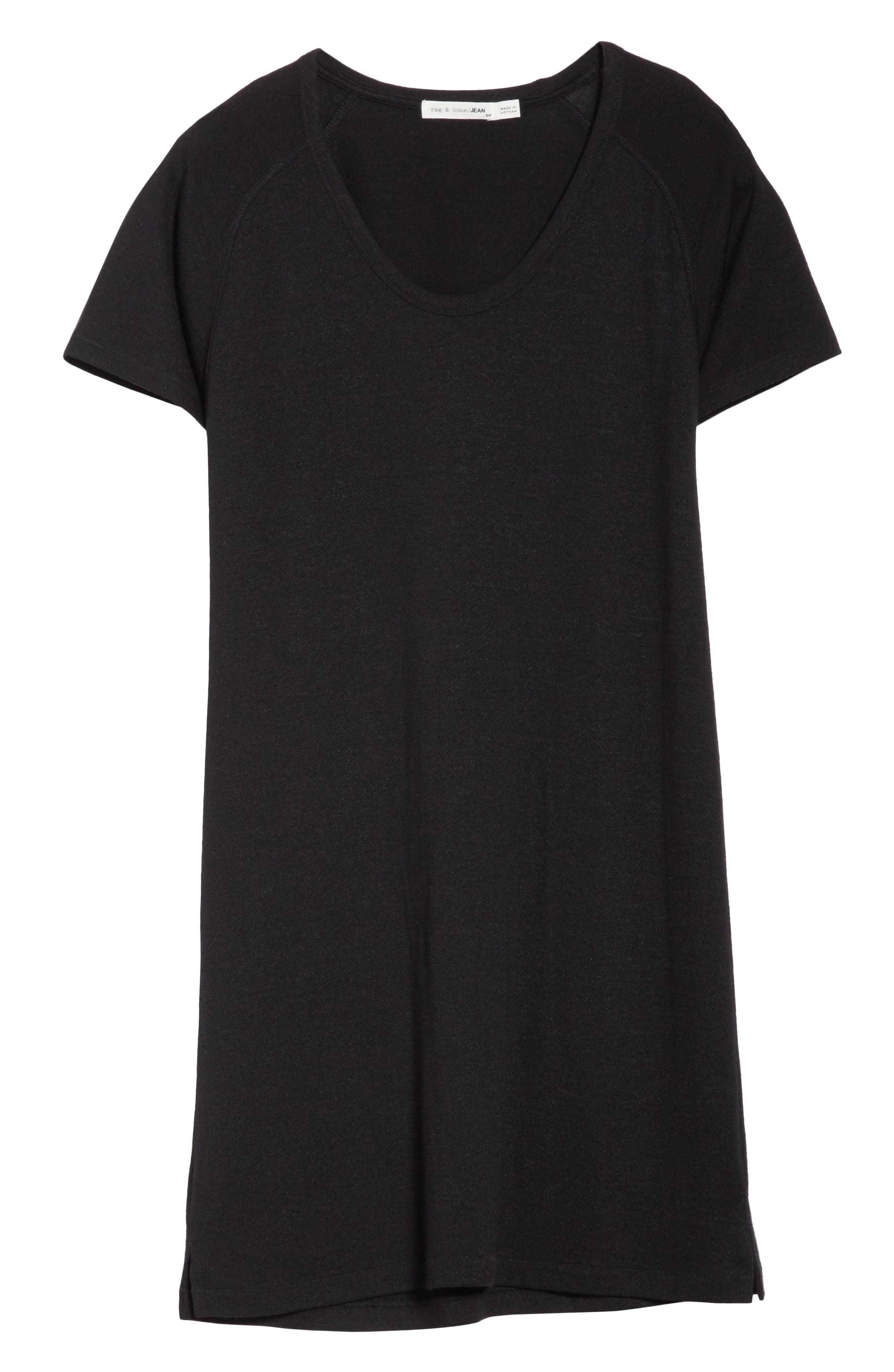 Raglan T-Shirt Dress,                             Alternate thumbnail 6, color,                             001