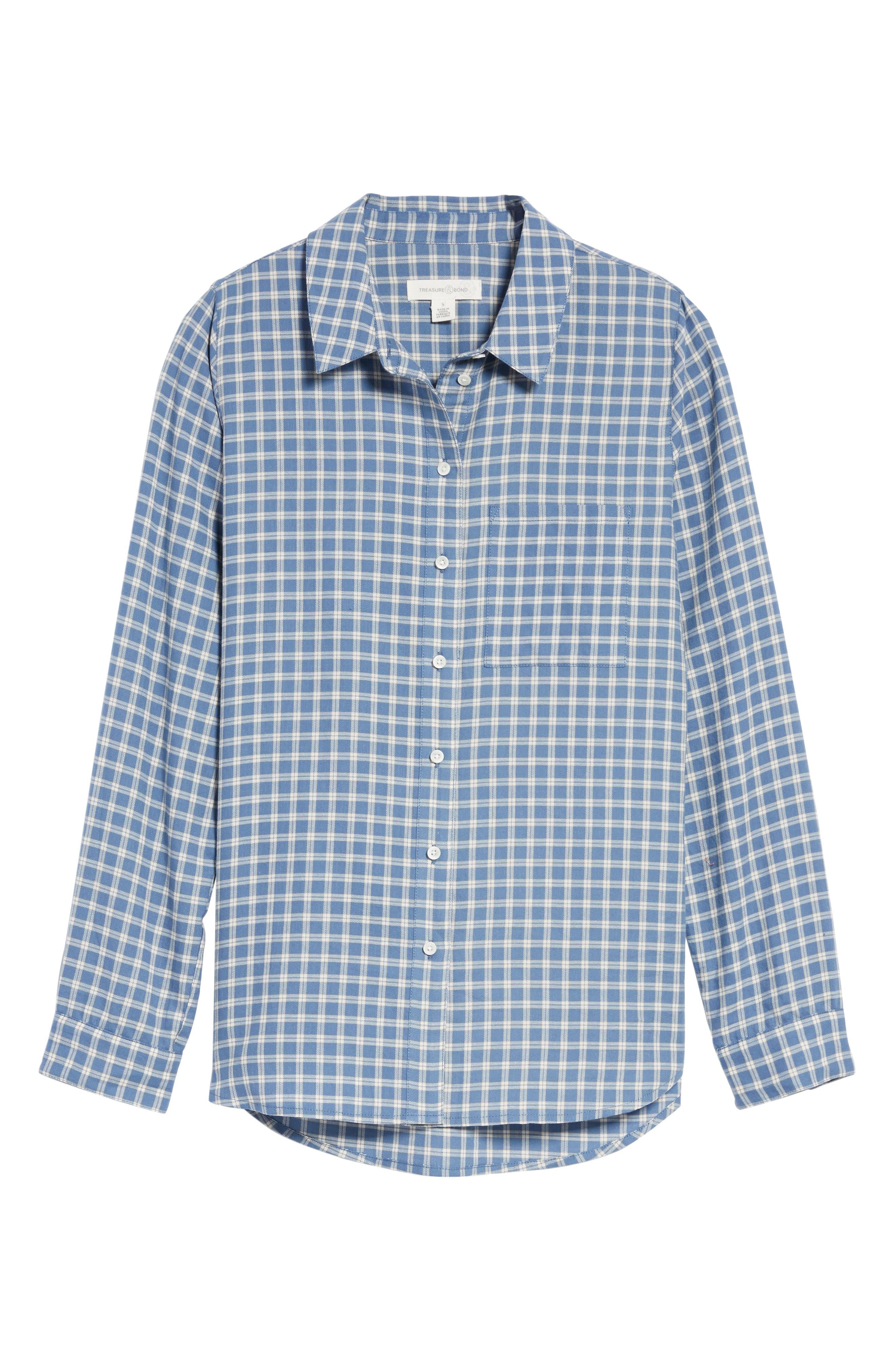 Classic Plaid Shirt,                             Alternate thumbnail 6, color,                             400