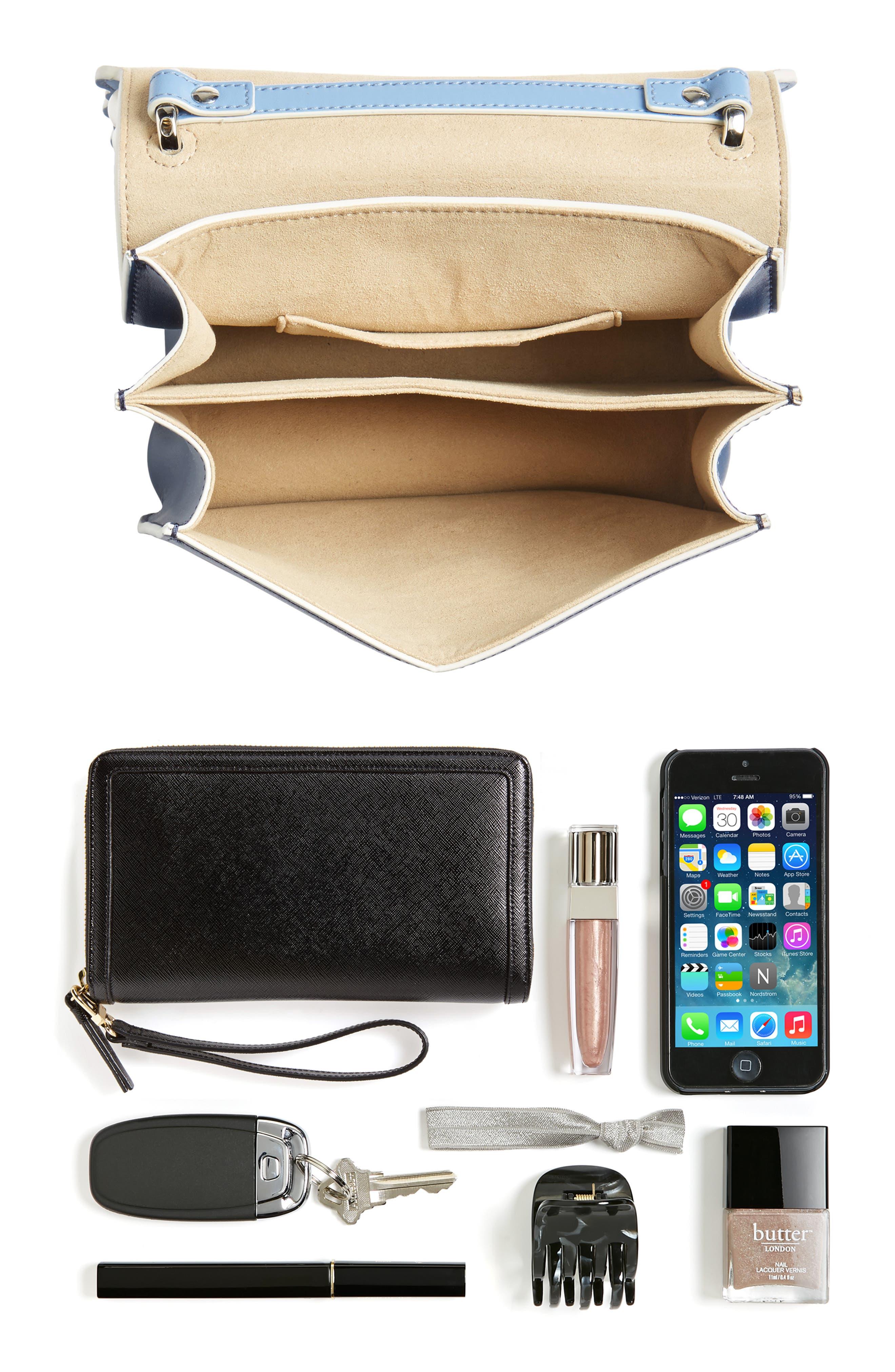 Mini Kan I Imitation Pearl Scallop Leather Shoulder Bag,                             Alternate thumbnail 7, color,                             BLUE