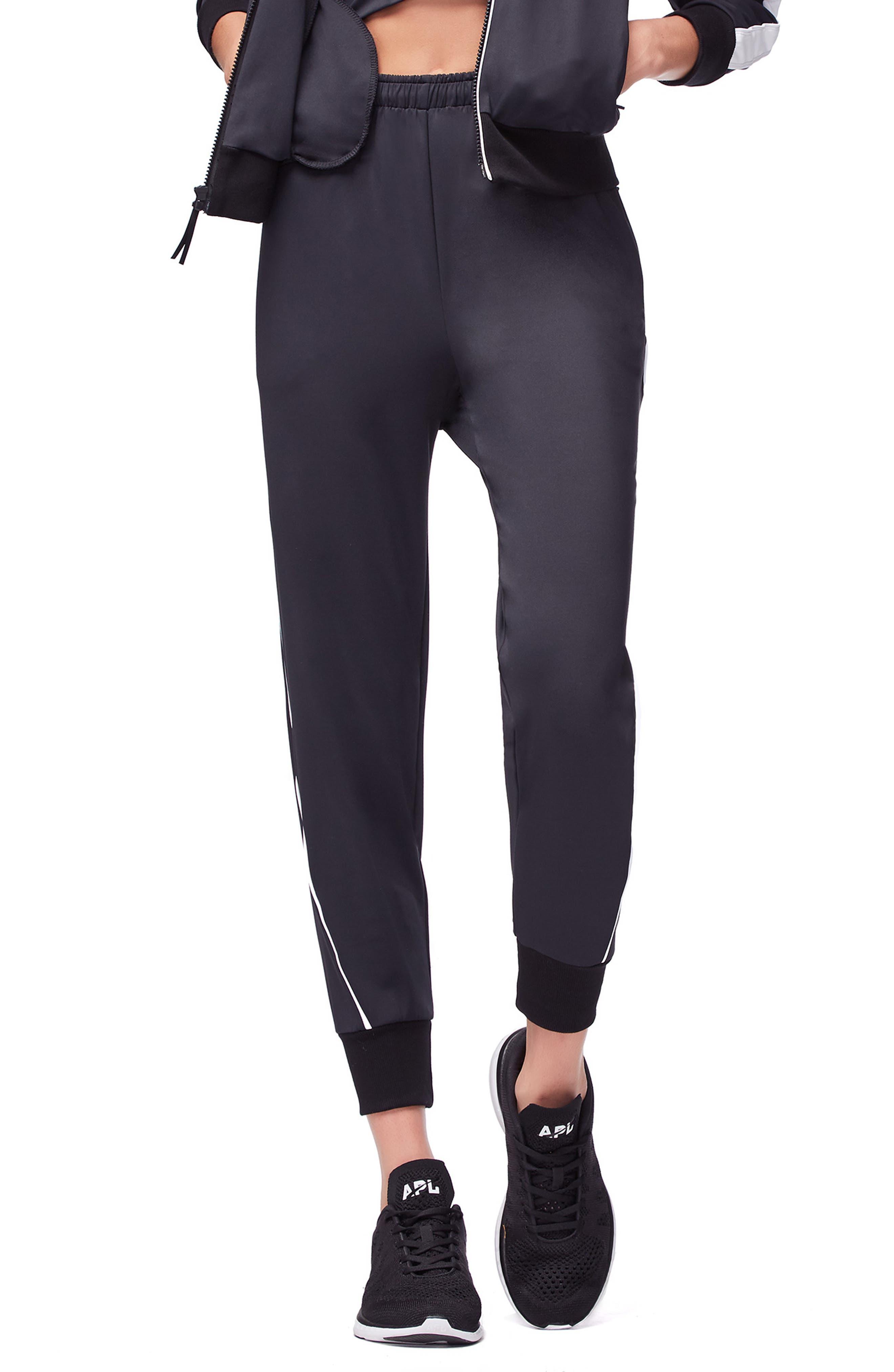 Piped Jogger Pants,                         Main,                         color, BLACK001