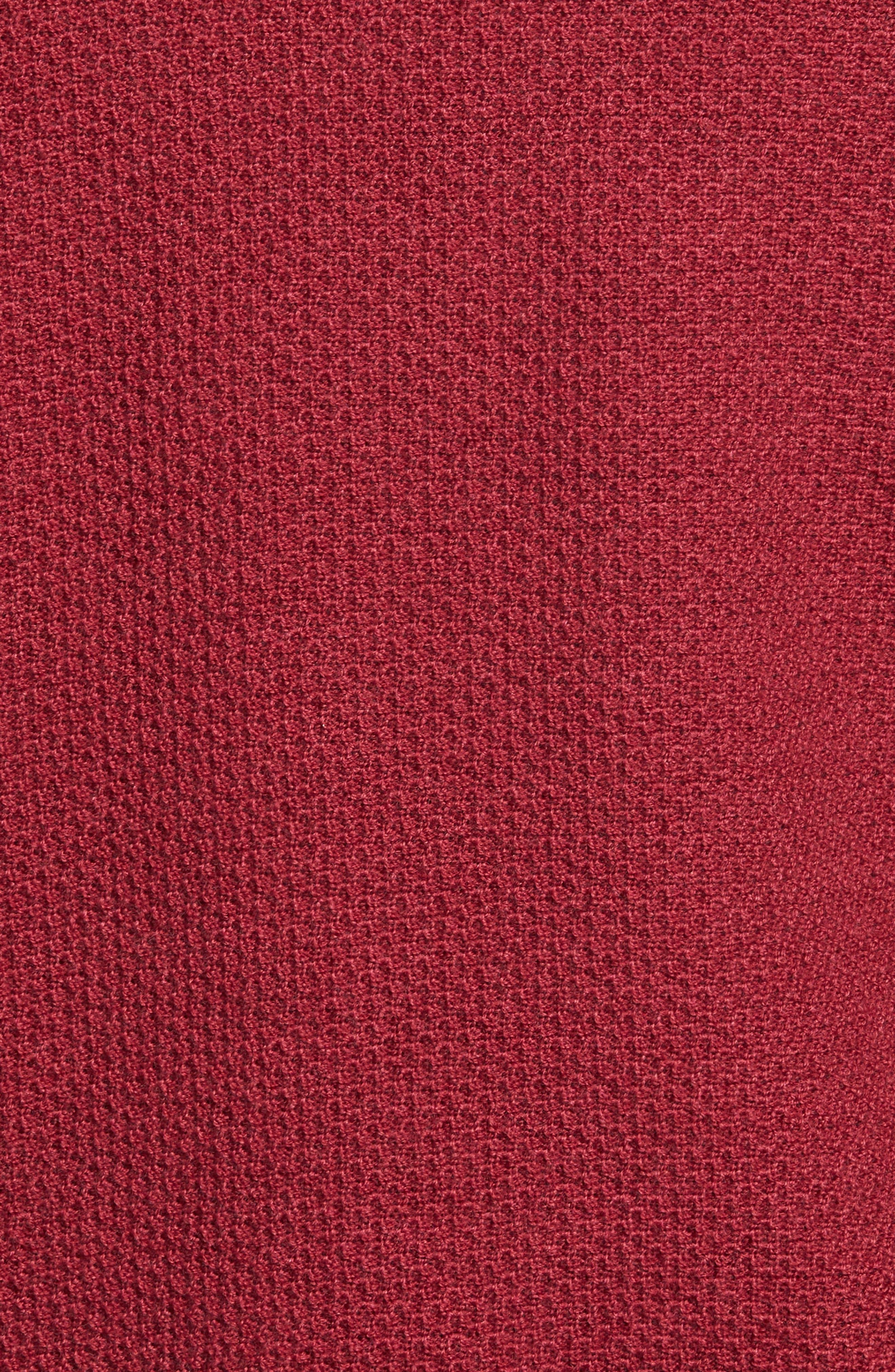 Honeycomb Merino Wool Quarter Zip Pullover,                             Alternate thumbnail 15, color,