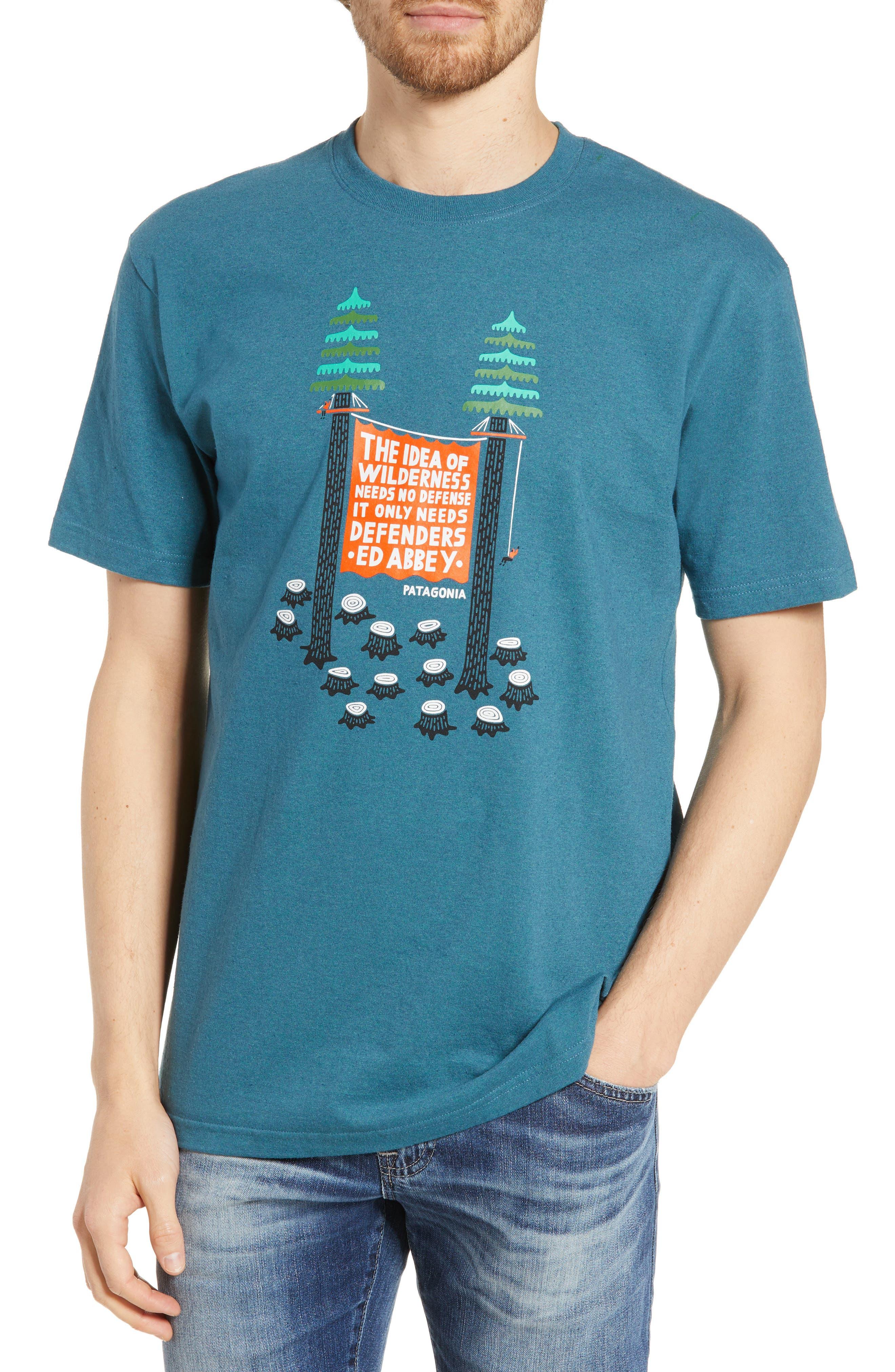 Patagonia Treesitters Responsibili-Tee Graphic T-Shirt, Blue/green