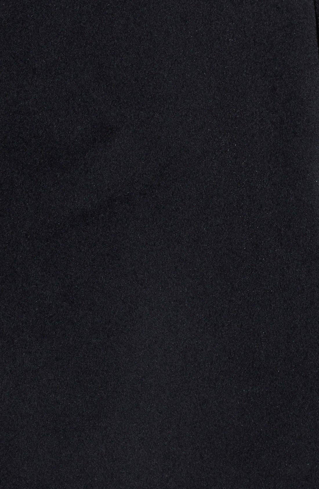 BETSEY JOHNSON,                             'Toggle' Flyaway Wool & Angora Blend Coat,                             Alternate thumbnail 3, color,                             001