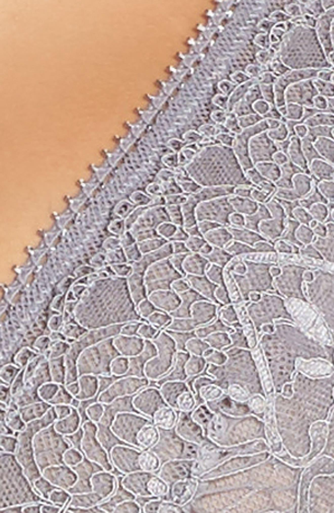 Lace Longline Bralette,                             Alternate thumbnail 4, color,                             020