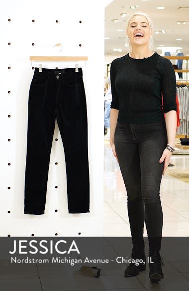 W3 Higher Ground Mini Split Ankle Velvet Jeans, sales video thumbnail