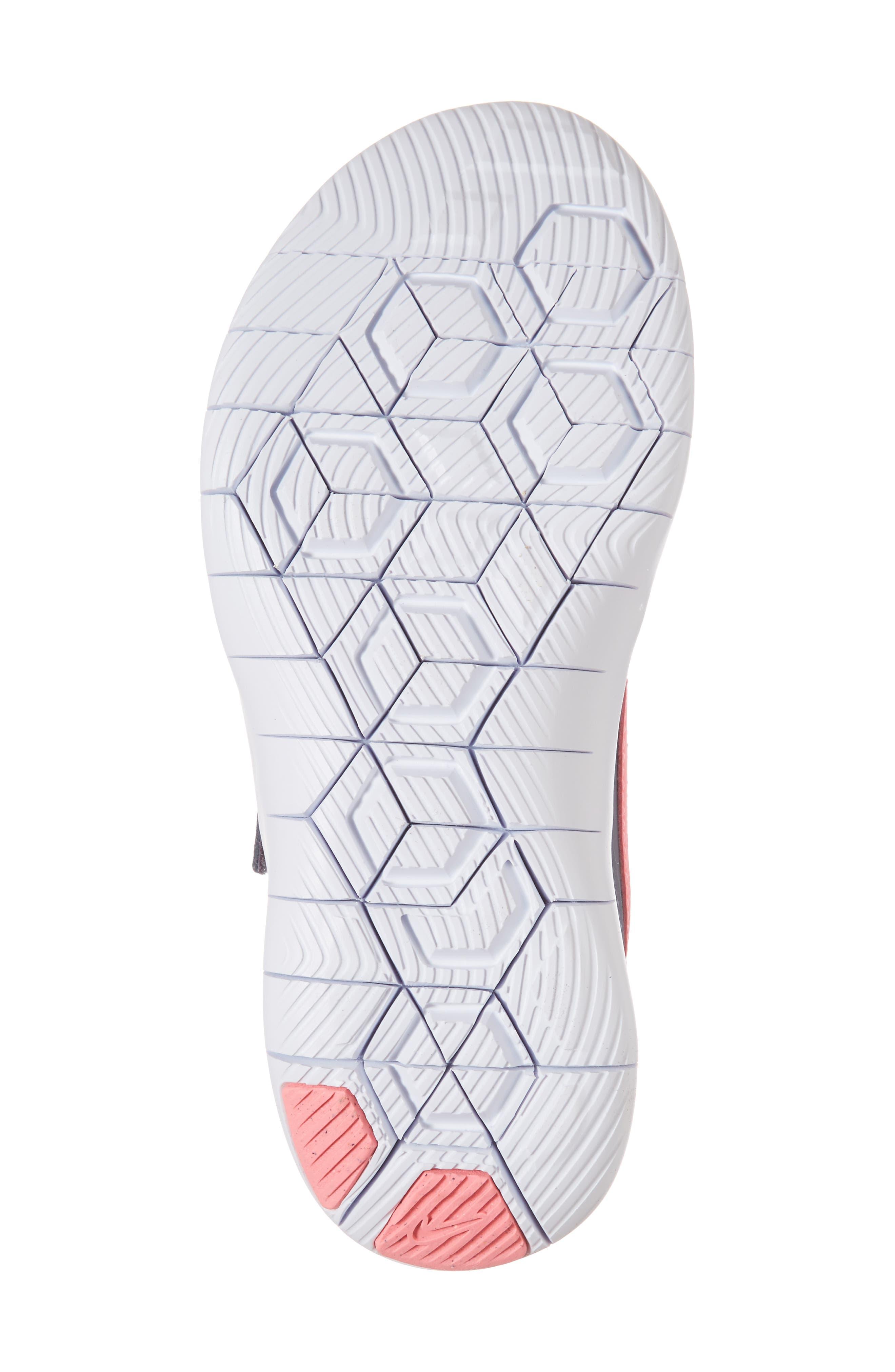 Flex Contact Running Shoe,                             Alternate thumbnail 6, color,                             LIGHT CARBON/ SUNSET PULSE