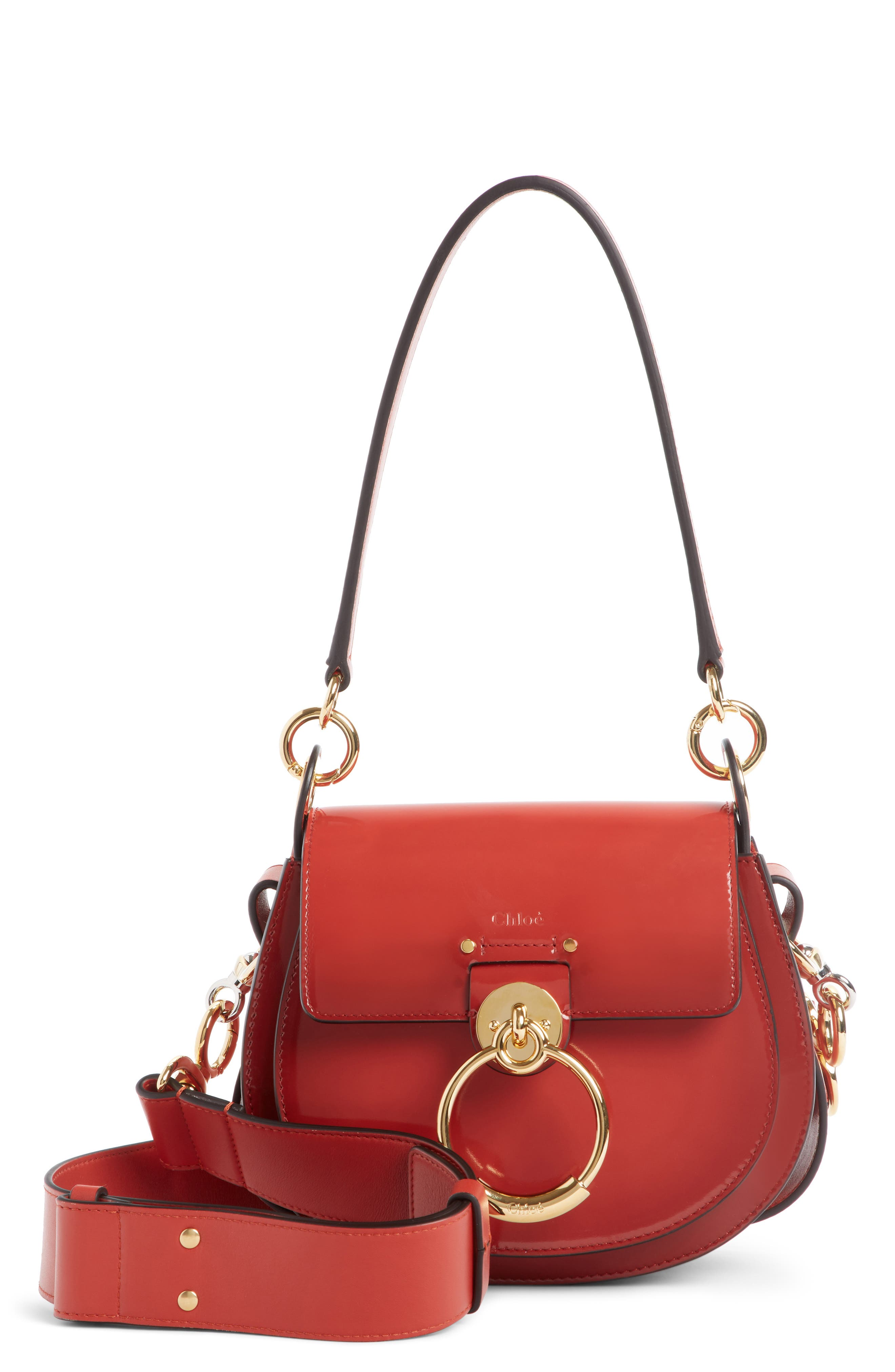 Small Tess Calfskin Leather Shoulder Bag by ChloÉ